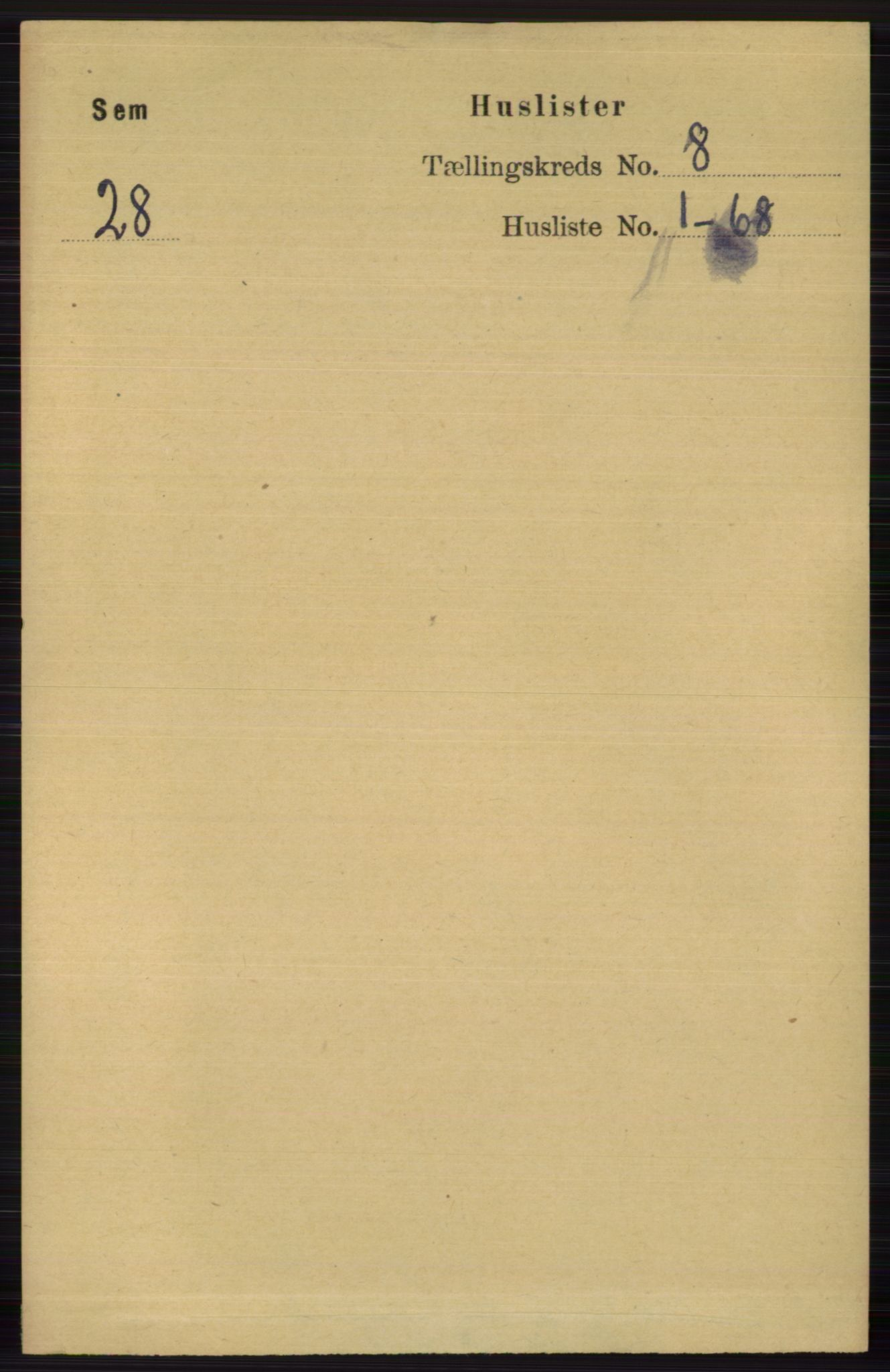 RA, Folketelling 1891 for 0721 Sem herred, 1891, s. 3746