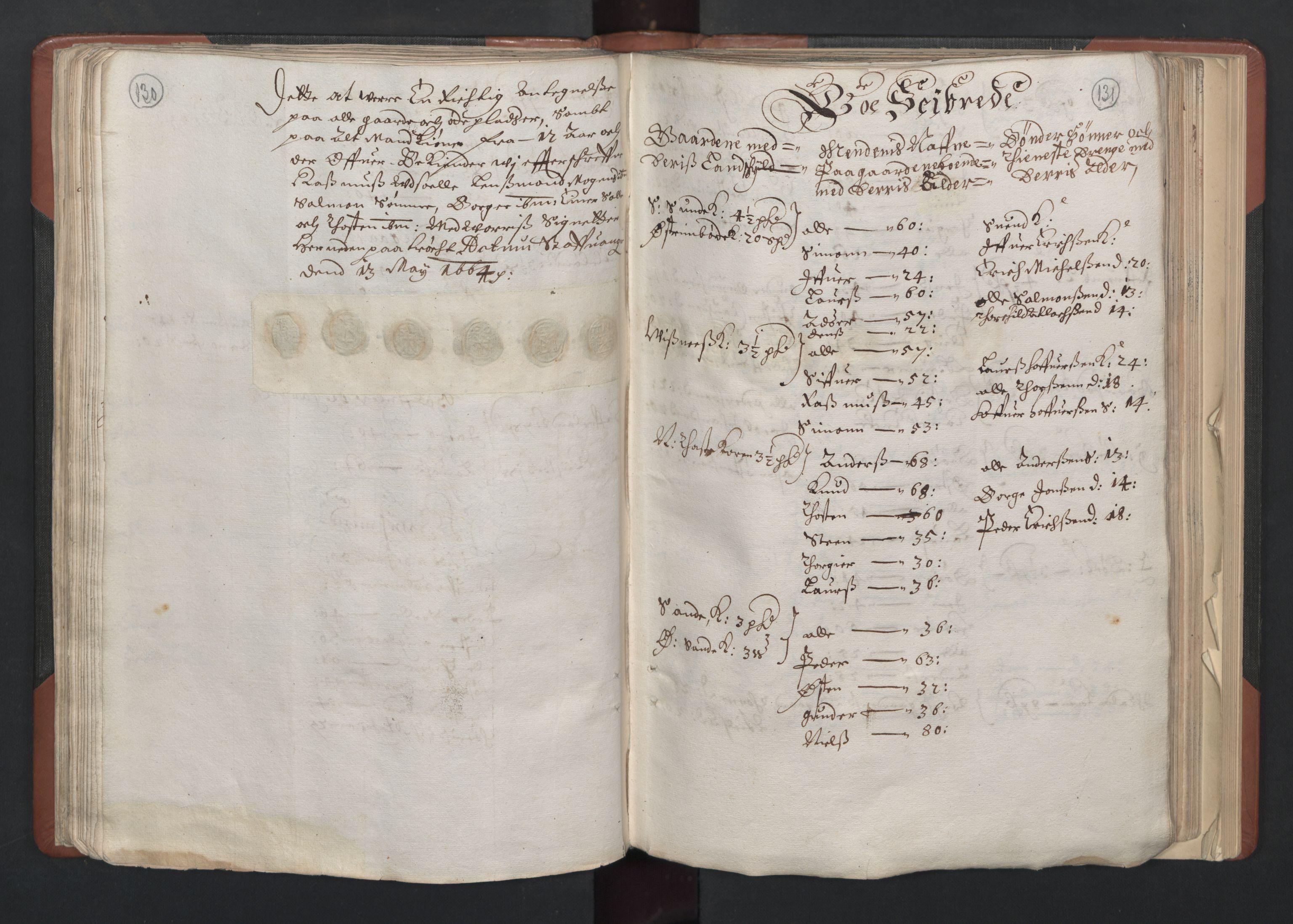 RA, Fogdenes og sorenskrivernes manntall 1664-1666, nr. 11: Jæren og Dalane fogderi, 1664, s. 130-131
