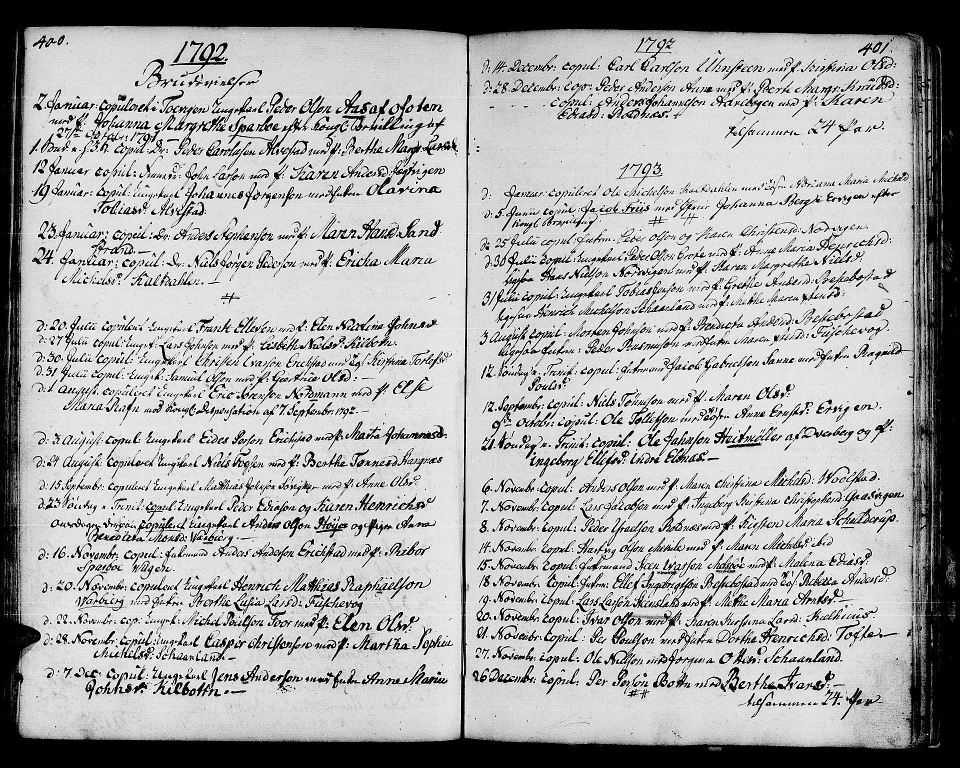 SATØ, Trondenes sokneprestkontor, H/Ha/L0003kirke: Ministerialbok nr. 3, 1783-1803, s. 400-401