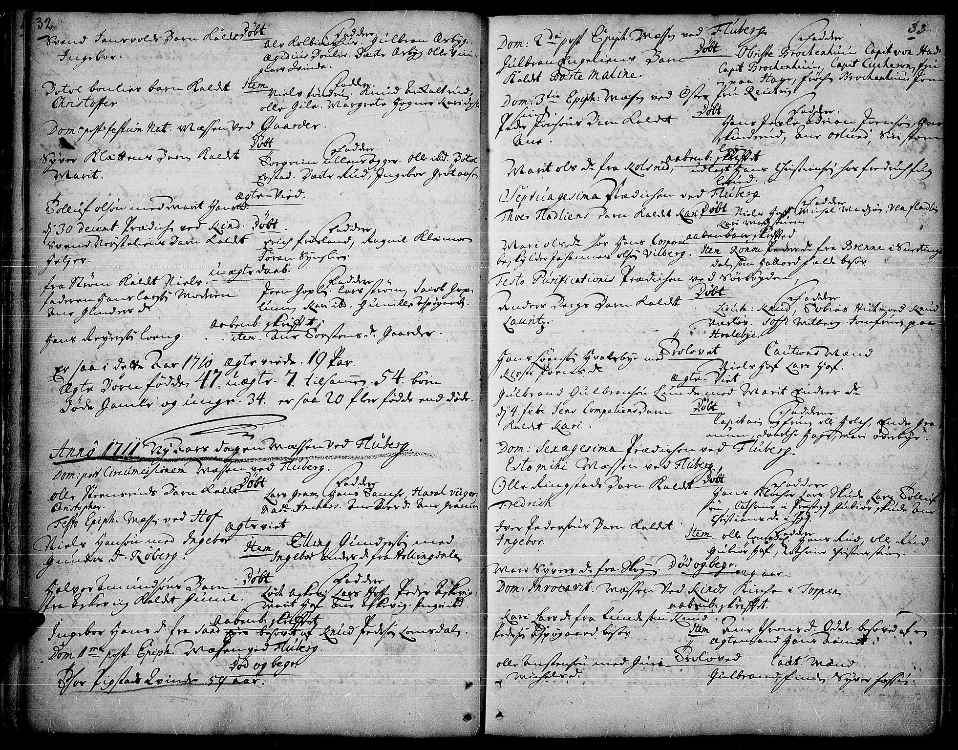 SAH, Land prestekontor, Ministerialbok nr. 1, 1708-1732, s. 32-33