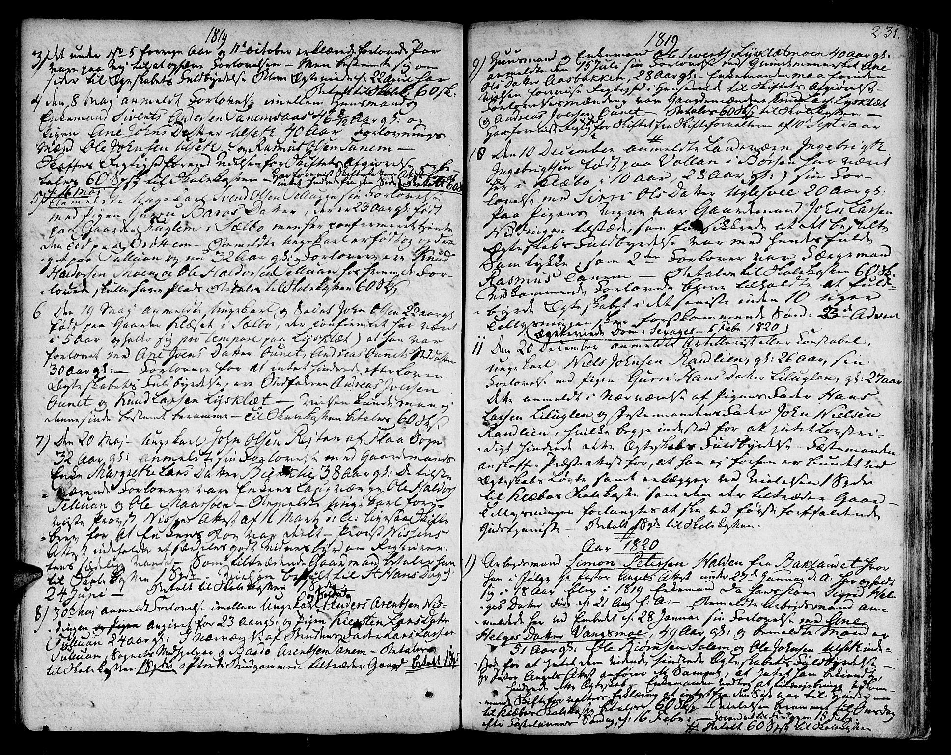 SAT, Ministerialprotokoller, klokkerbøker og fødselsregistre - Sør-Trøndelag, 618/L0438: Ministerialbok nr. 618A03, 1783-1815, s. 231
