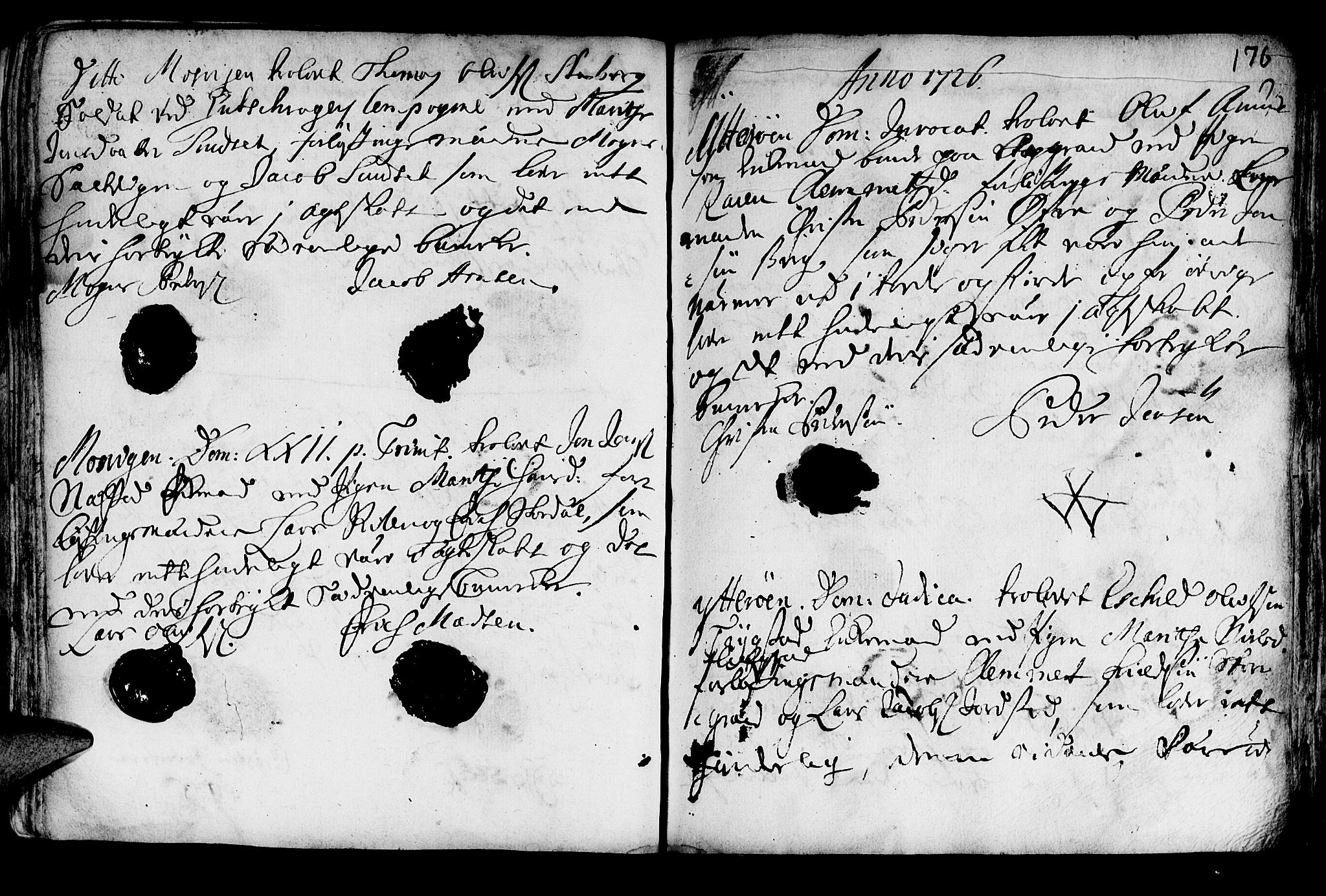 SAT, Ministerialprotokoller, klokkerbøker og fødselsregistre - Nord-Trøndelag, 722/L0215: Ministerialbok nr. 722A02, 1718-1755, s. 176