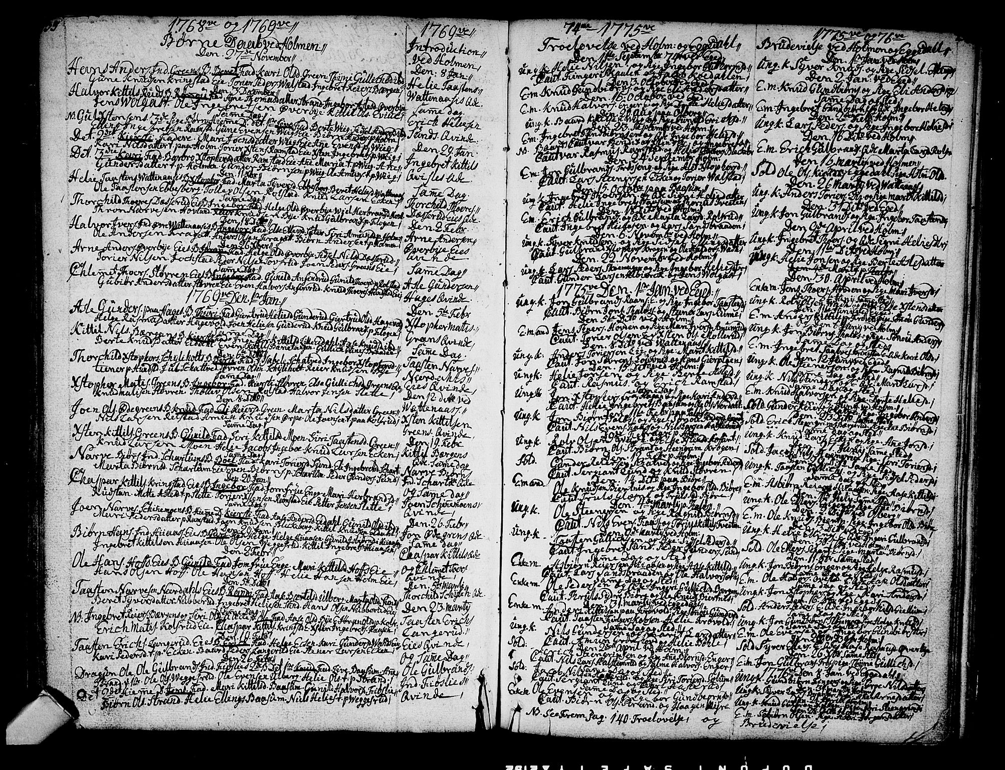 SAKO, Sigdal kirkebøker, F/Fa/L0001: Ministerialbok nr. I 1, 1722-1777, s. 135-136