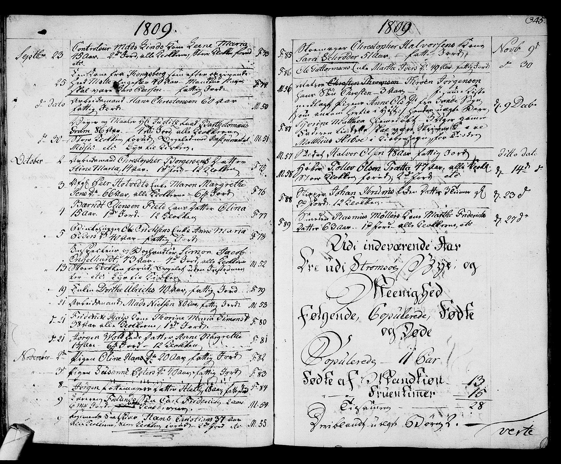 SAKO, Strømsø kirkebøker, F/Fa/L0010: Ministerialbok nr. I 10, 1792-1822, s. 345