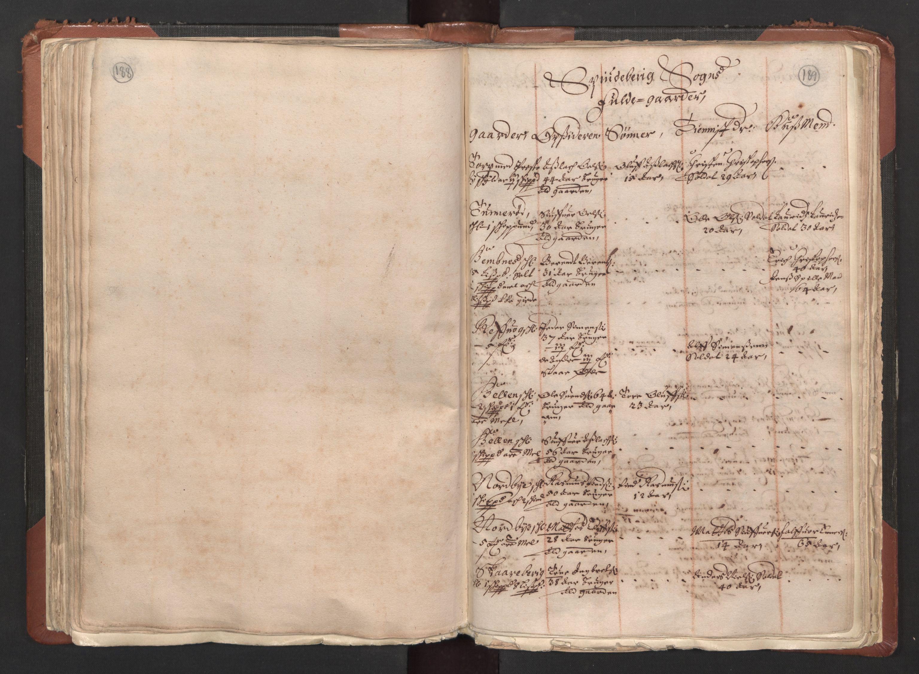 RA, Fogdenes og sorenskrivernes manntall 1664-1666, nr. 1: Fogderier (len og skipreider) i nåværende Østfold fylke, 1664, s. 188-189