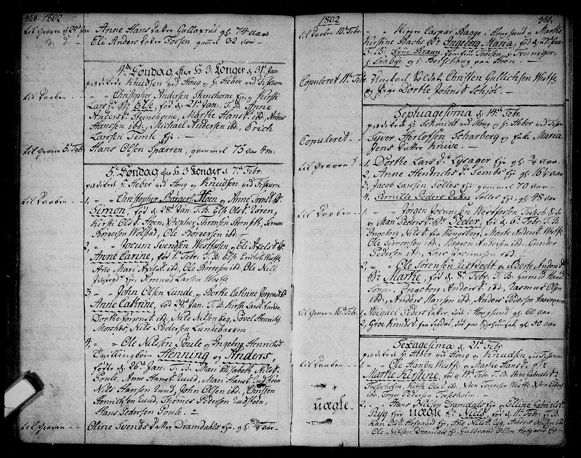SAKO, Eiker kirkebøker, F/Fa/L0009: Ministerialbok nr. I 9, 1789-1806, s. 350-351