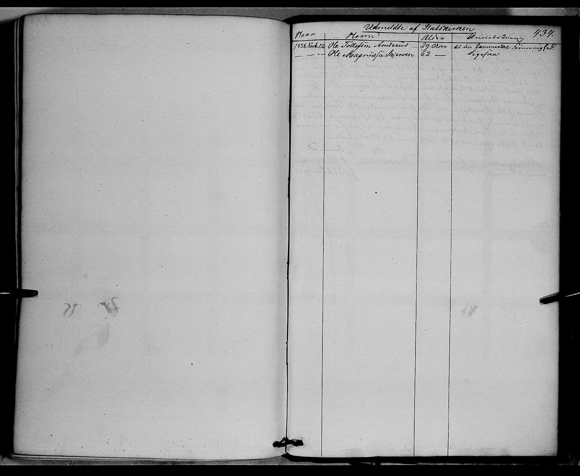 SAH, Vardal prestekontor, H/Ha/Haa/L0006: Ministerialbok nr. 6, 1854-1866, s. 434