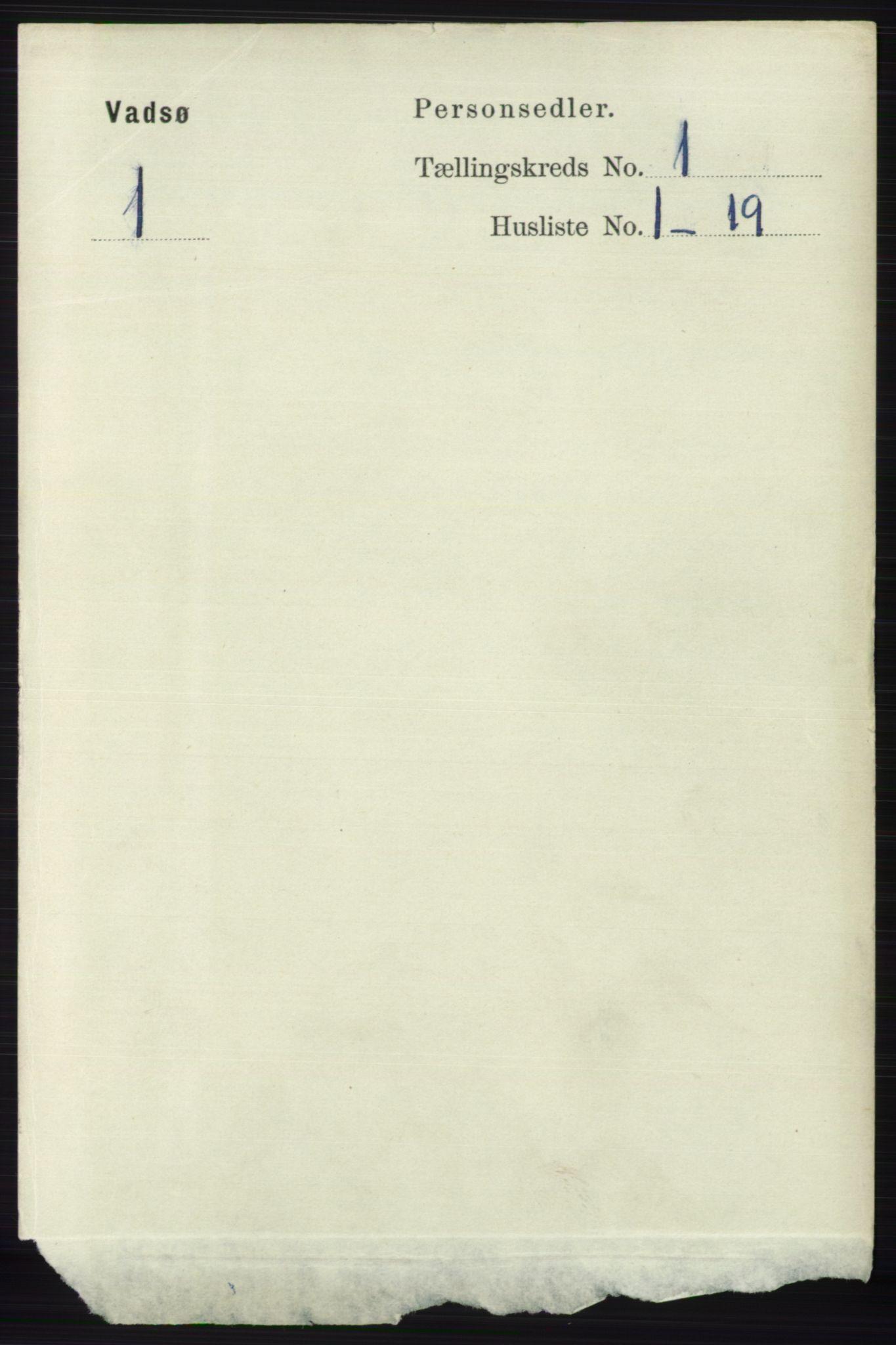 RA, Folketelling 1891 for 2003 Vadsø kjøpstad, 1891, s. 156