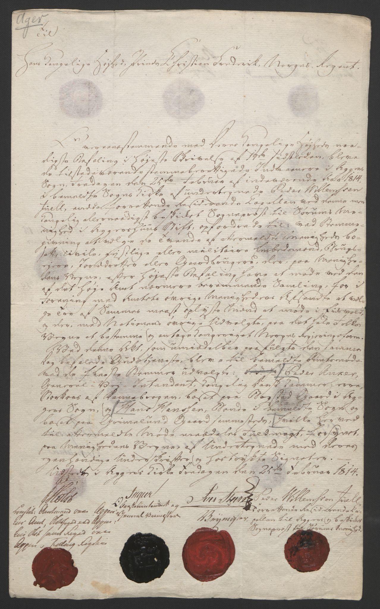 RA, Statsrådssekretariatet, D/Db/L0007: Fullmakter for Eidsvollsrepresentantene i 1814. , 1814, s. 173