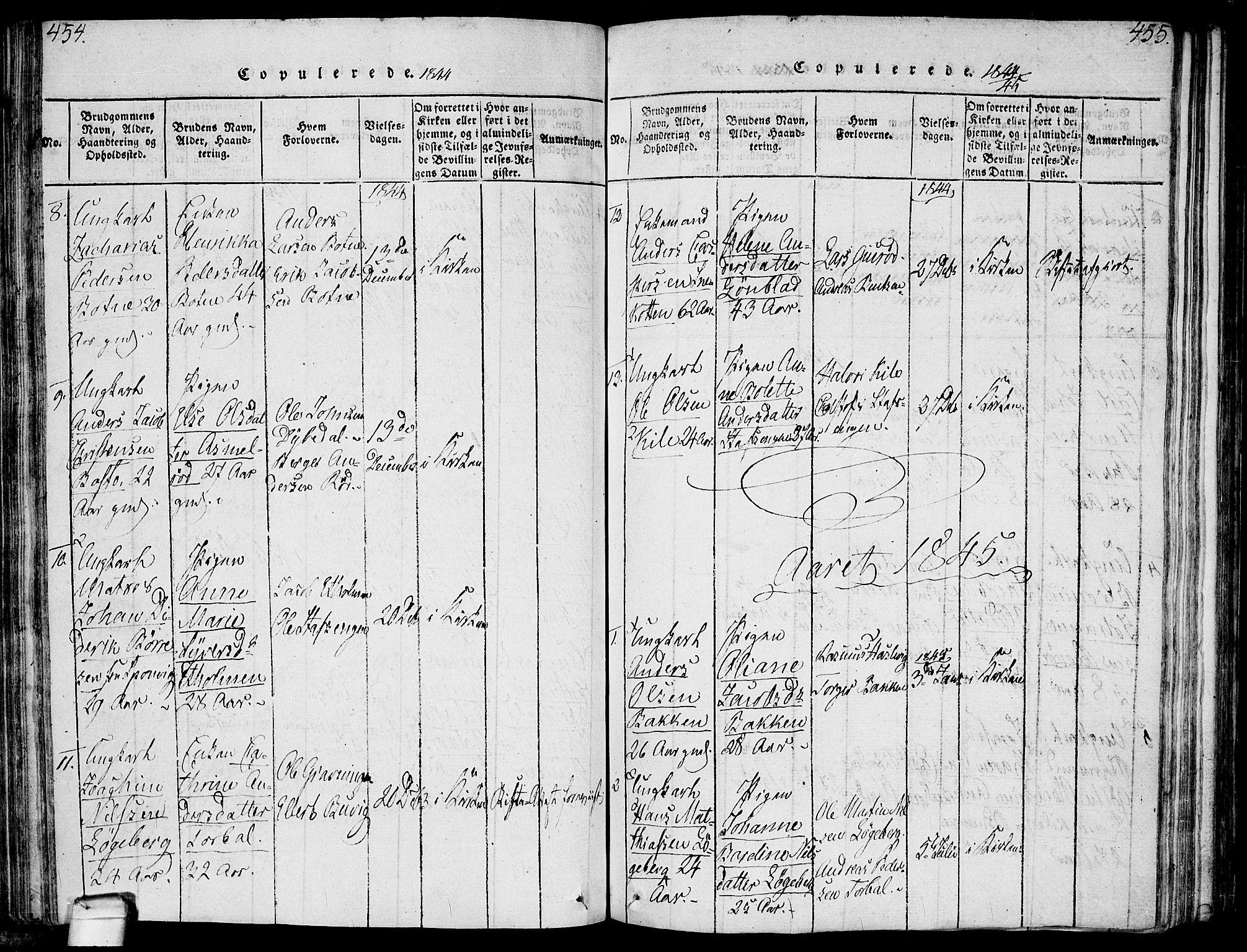 SAO, Hvaler prestekontor Kirkebøker, F/Fa/L0005: Ministerialbok nr. I 5, 1816-1845, s. 454-455