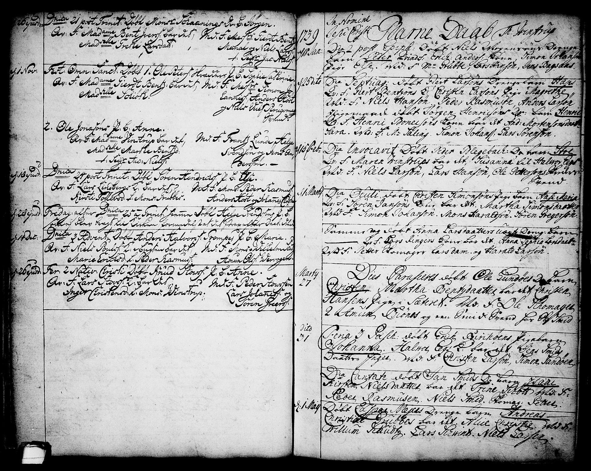 SAKO, Brevik kirkebøker, F/Fa/L0002: Ministerialbok nr. 2, 1720-1764, s. 34j