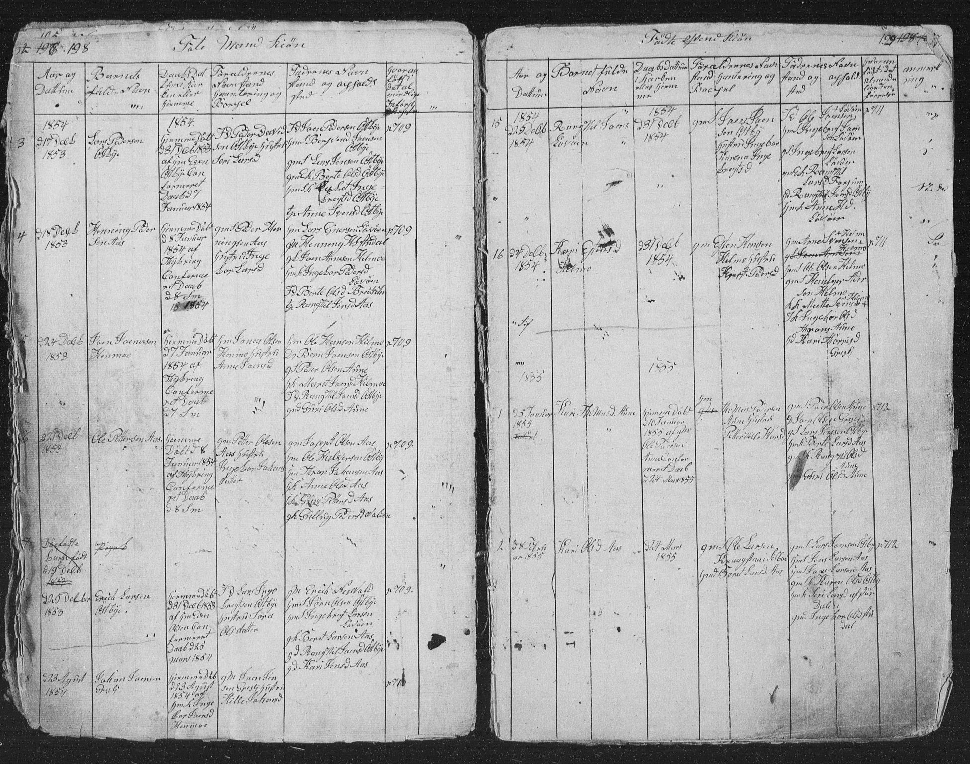 SAT, Ministerialprotokoller, klokkerbøker og fødselsregistre - Sør-Trøndelag, 698/L1165: Klokkerbok nr. 698C02, 1851-1861, s. 198-199