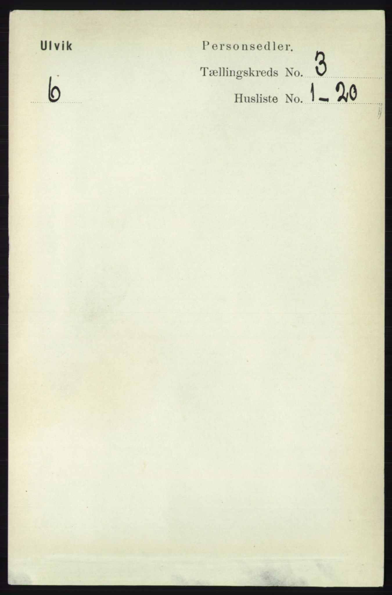 RA, Folketelling 1891 for 1233 Ulvik herred, 1891, s. 337