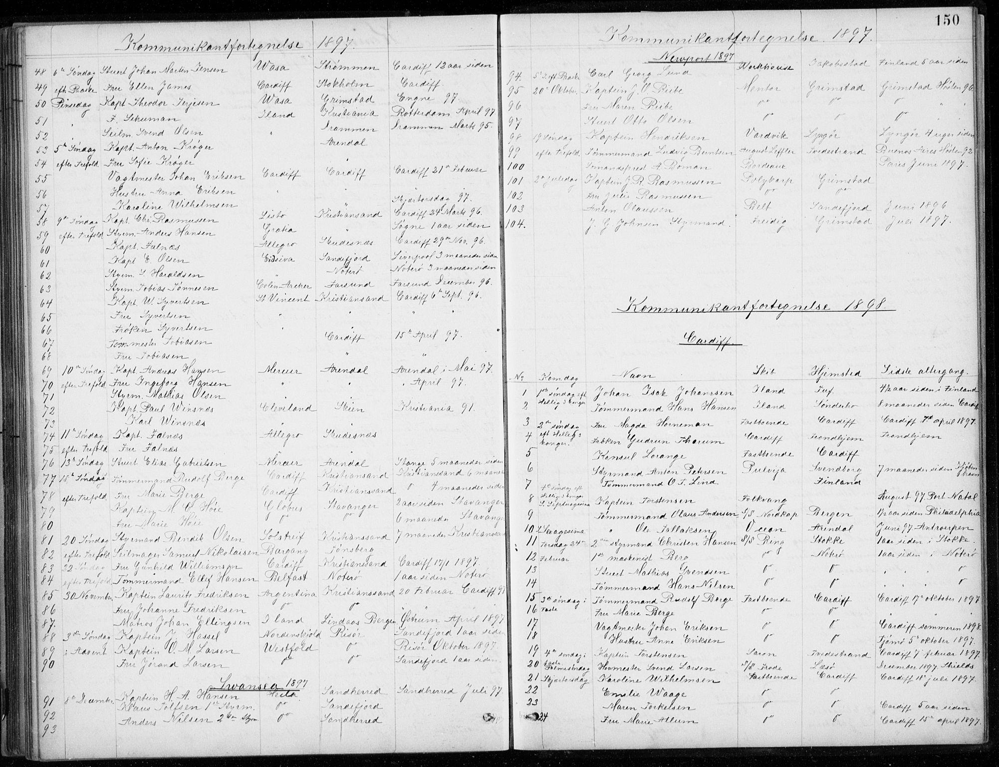SAB, Den Norske Sjømannsmisjon i utlandet*, Ministerialbok nr. A 2, 1887-1932, s. 150
