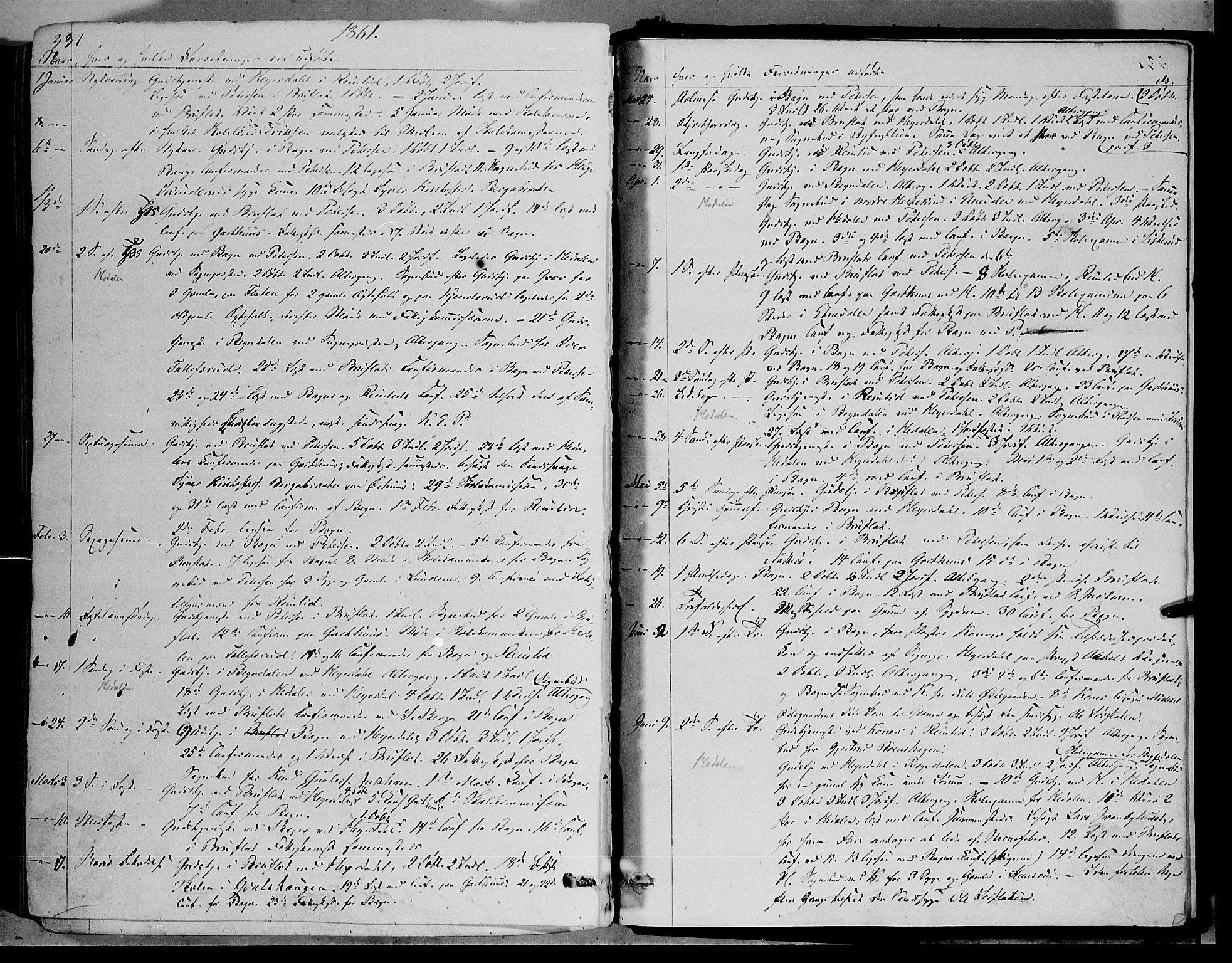 SAH, Sør-Aurdal prestekontor, Ministerialbok nr. 5, 1849-1876, s. 331