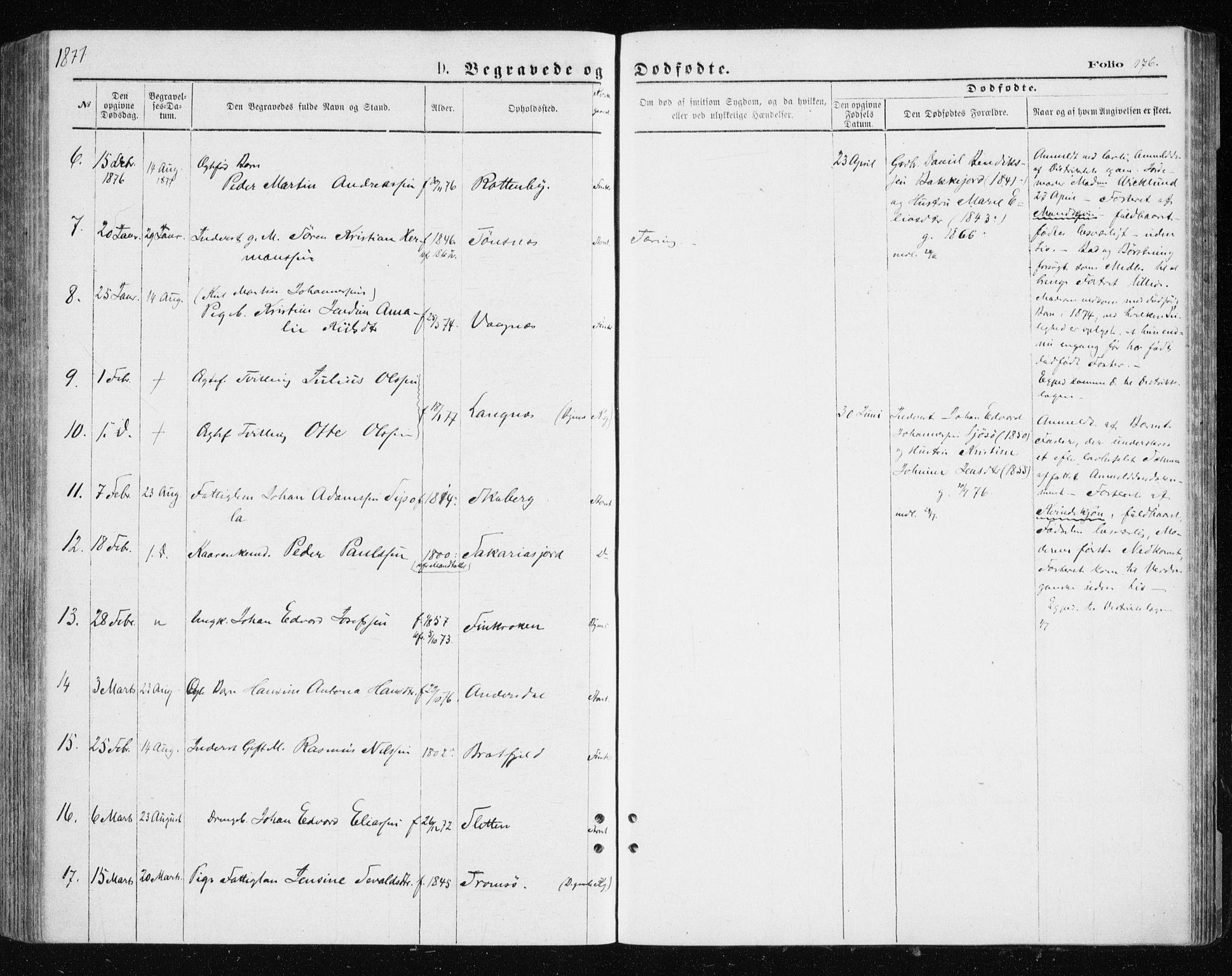 SATØ, Tromsøysund sokneprestkontor, G/Ga/L0003kirke: Ministerialbok nr. 3, 1875-1880, s. 176