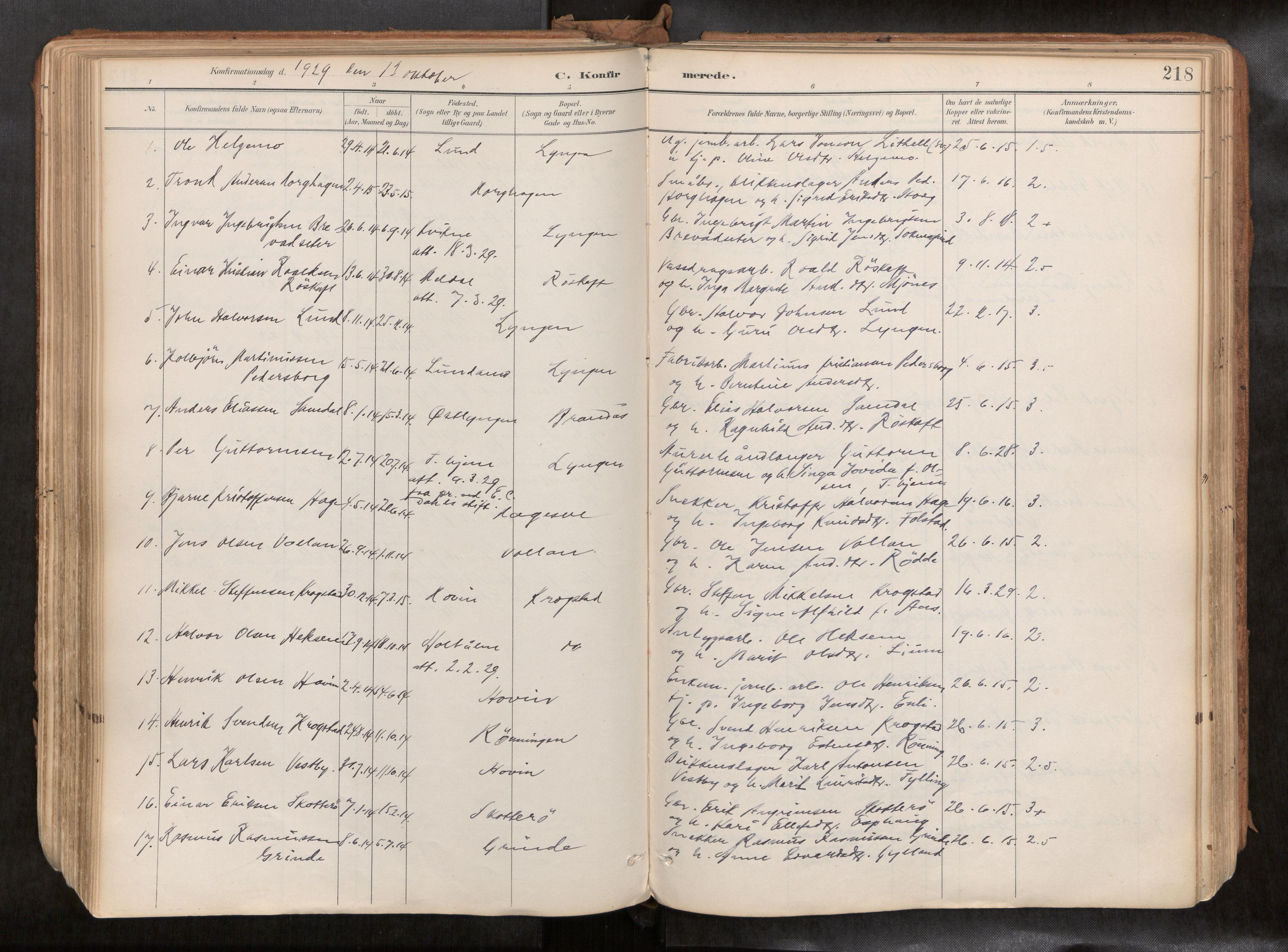 SAT, Ministerialprotokoller, klokkerbøker og fødselsregistre - Sør-Trøndelag, 692/L1105b: Ministerialbok nr. 692A06, 1891-1934, s. 218