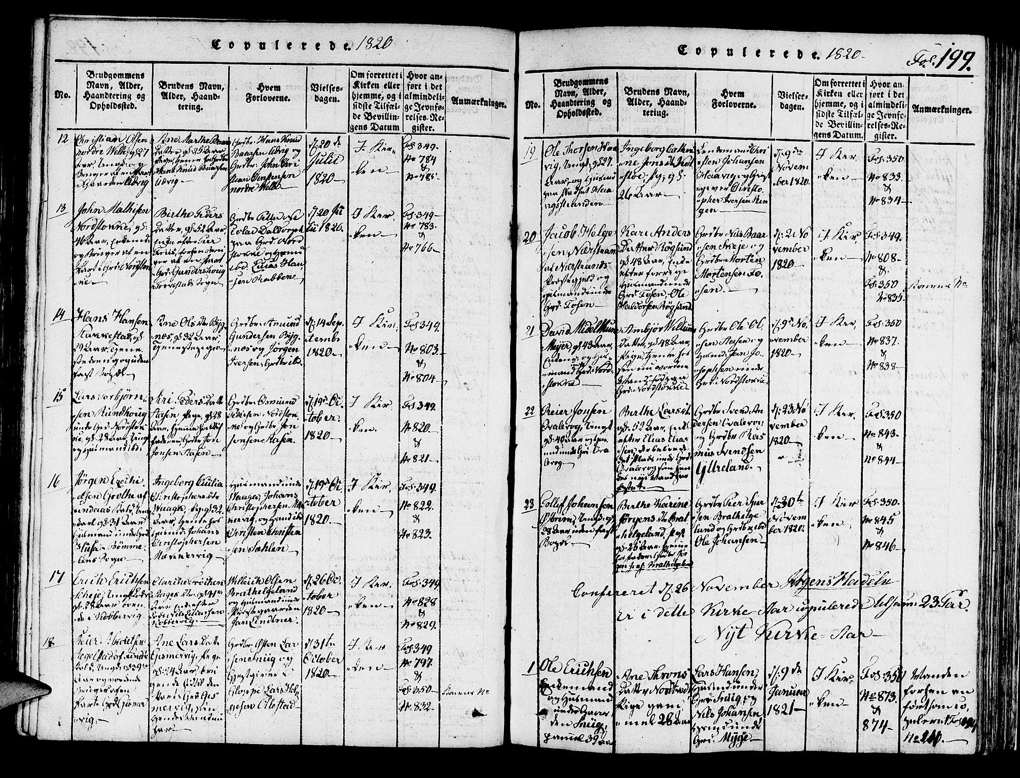 SAST, Avaldsnes sokneprestkontor, H/Ha/Haa/L0004: Ministerialbok nr. A 4, 1816-1825, s. 199