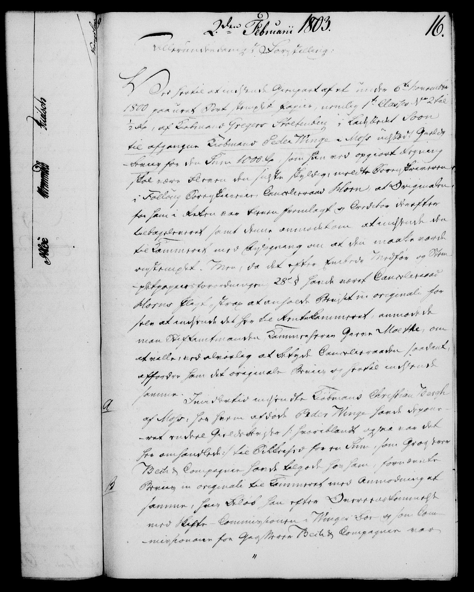 RA, Rentekammeret, Kammerkanselliet, G/Gf/Gfa/L0085: Norsk relasjons- og resolusjonsprotokoll (merket RK 52.85), 1803, s. 113