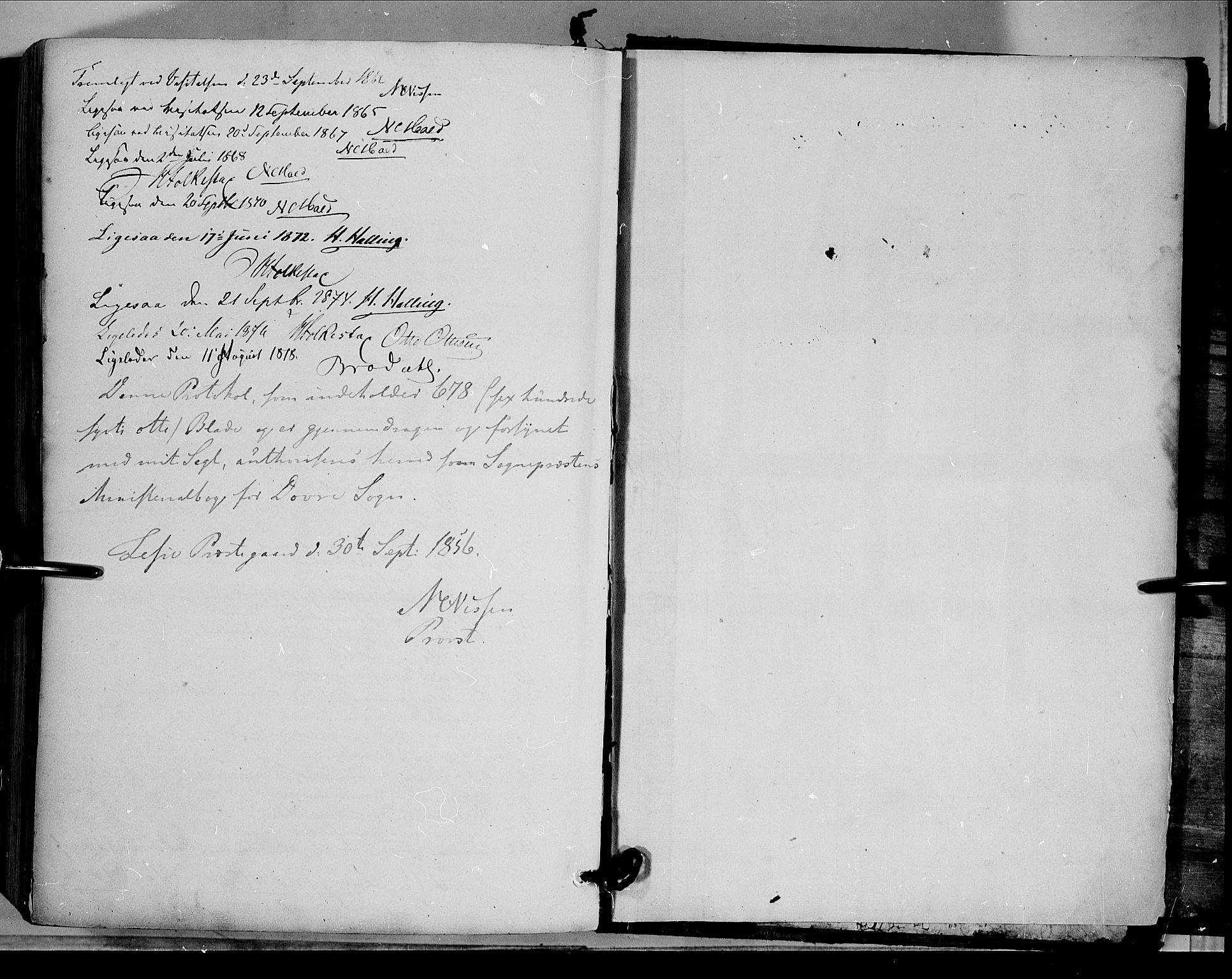SAH, Dovre prestekontor, Ministerialbok nr. 1, 1854-1878