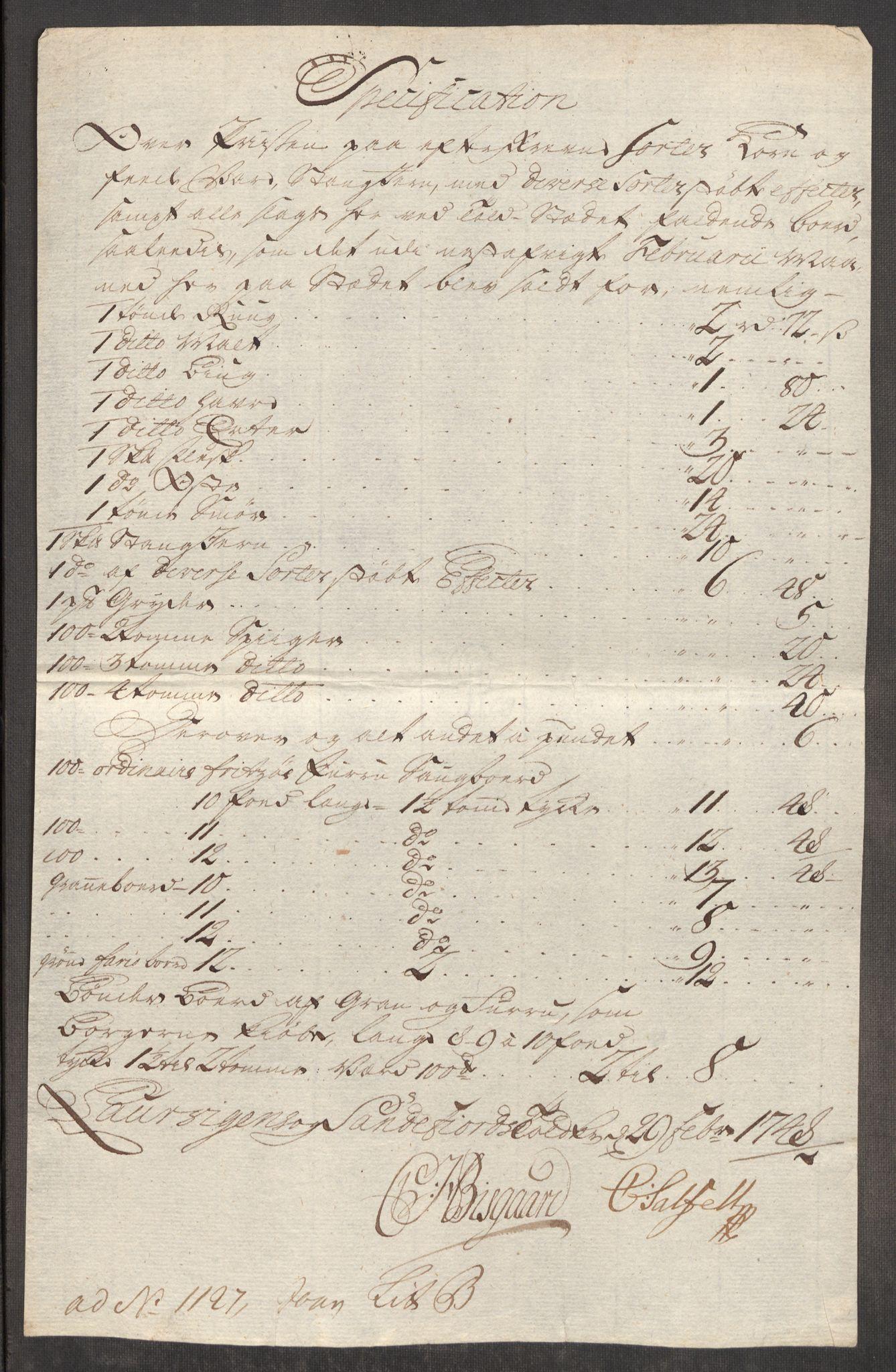 RA, Rentekammeret inntil 1814, Realistisk ordnet avdeling, Oe/L0003: [Ø1]: Priskuranter, 1745-1748, s. 776