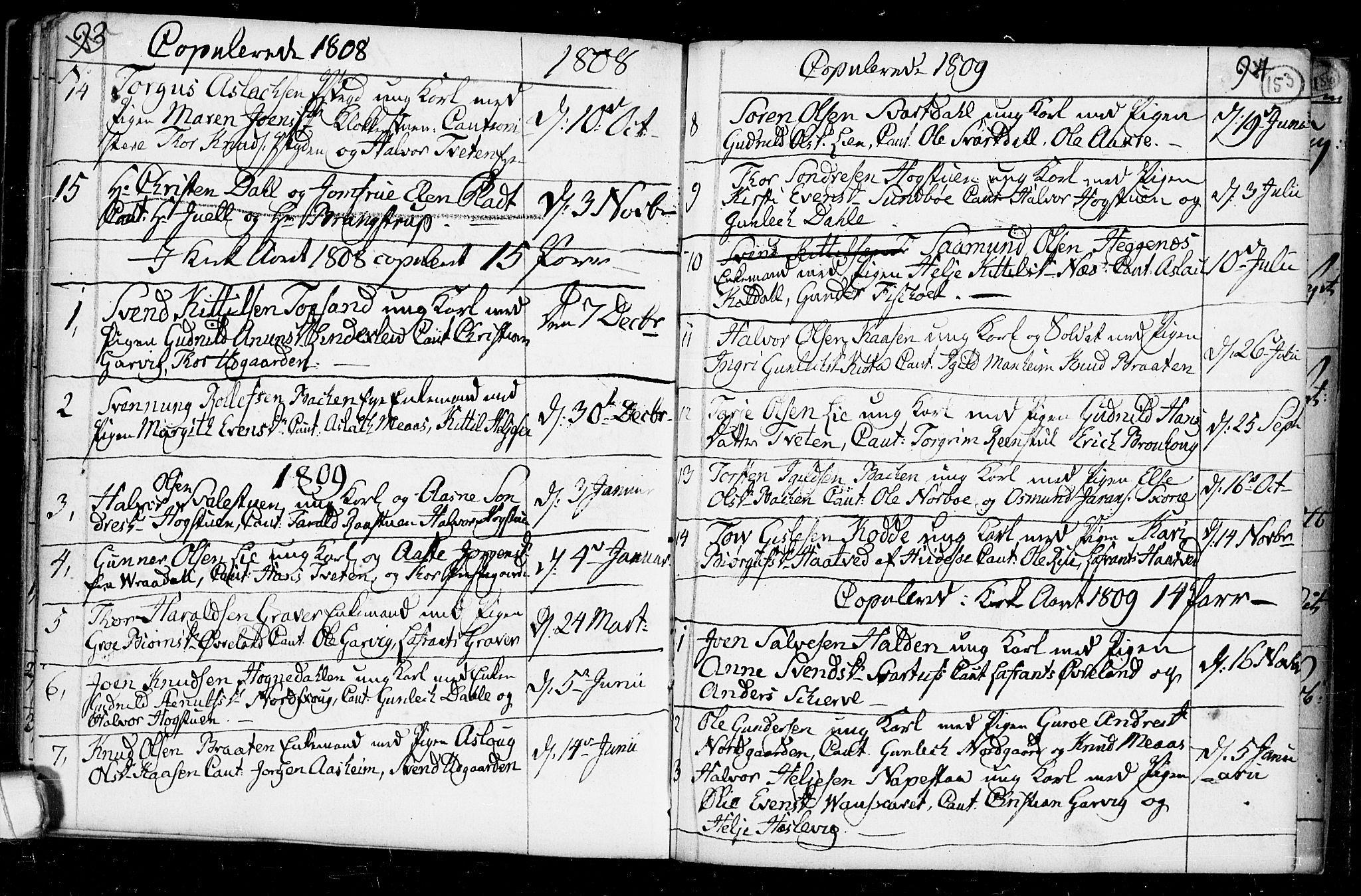 SAKO, Seljord kirkebøker, F/Fa/L0008: Ministerialbok nr. I 8, 1755-1814, s. 153
