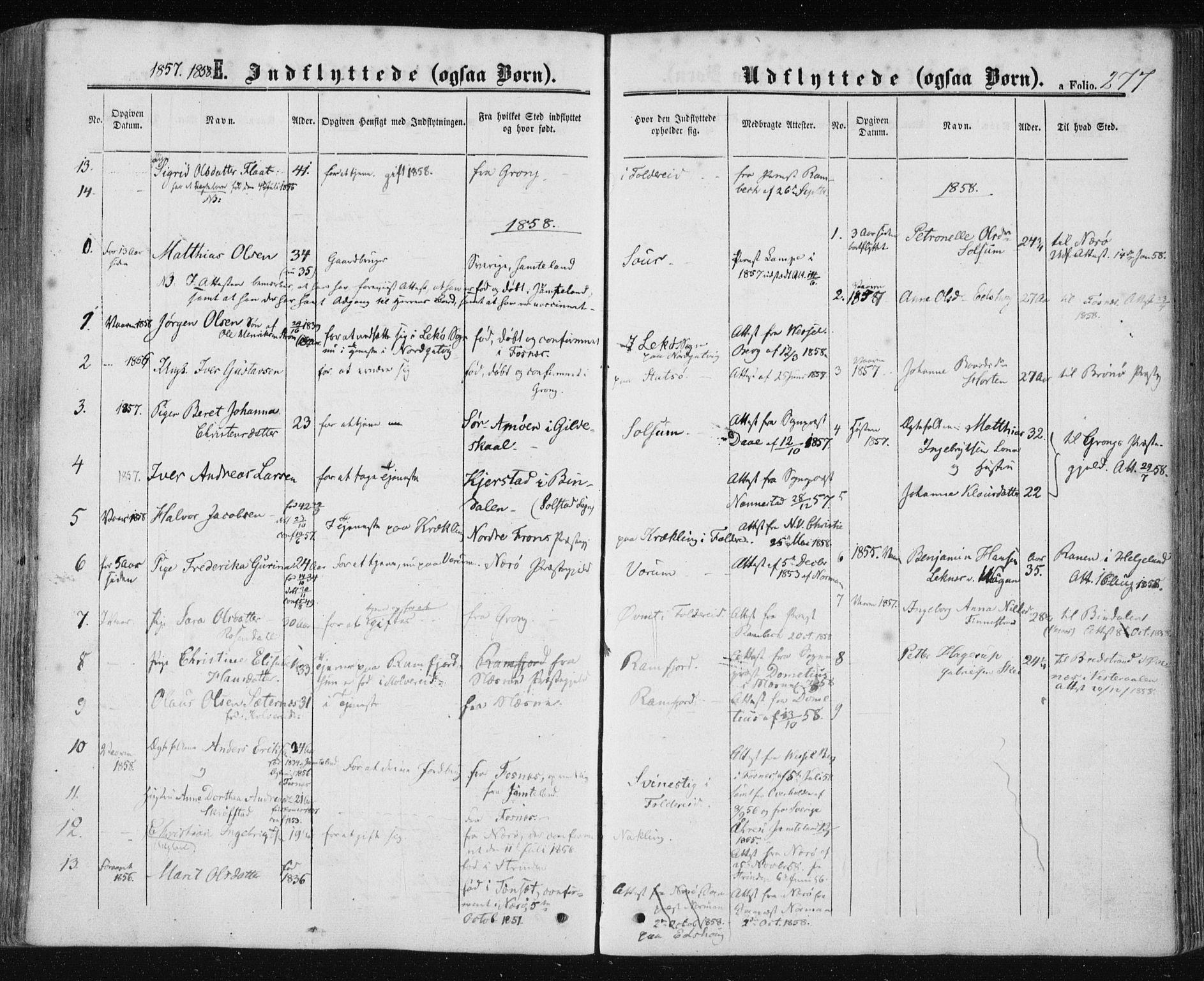 SAT, Ministerialprotokoller, klokkerbøker og fødselsregistre - Nord-Trøndelag, 780/L0641: Ministerialbok nr. 780A06, 1857-1874, s. 277