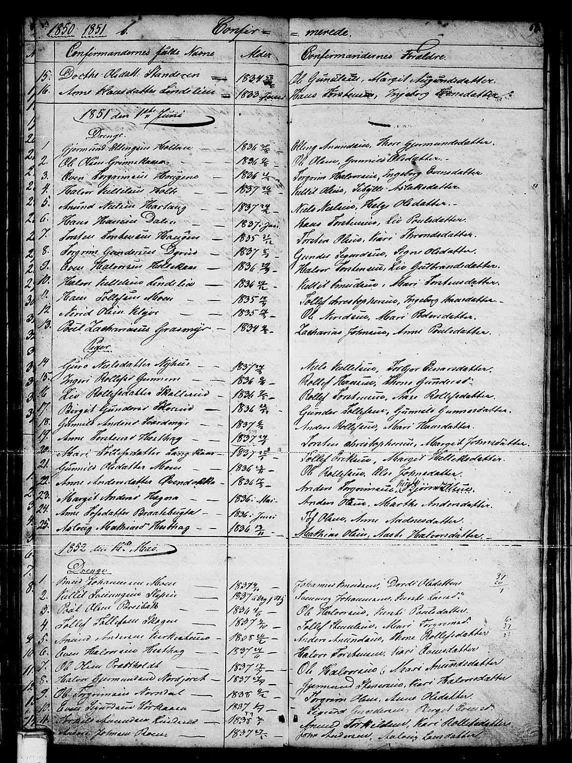 SAKO, Sauherad kirkebøker, G/Gb/L0001: Klokkerbok nr. II 1, 1845-1865, s. 62