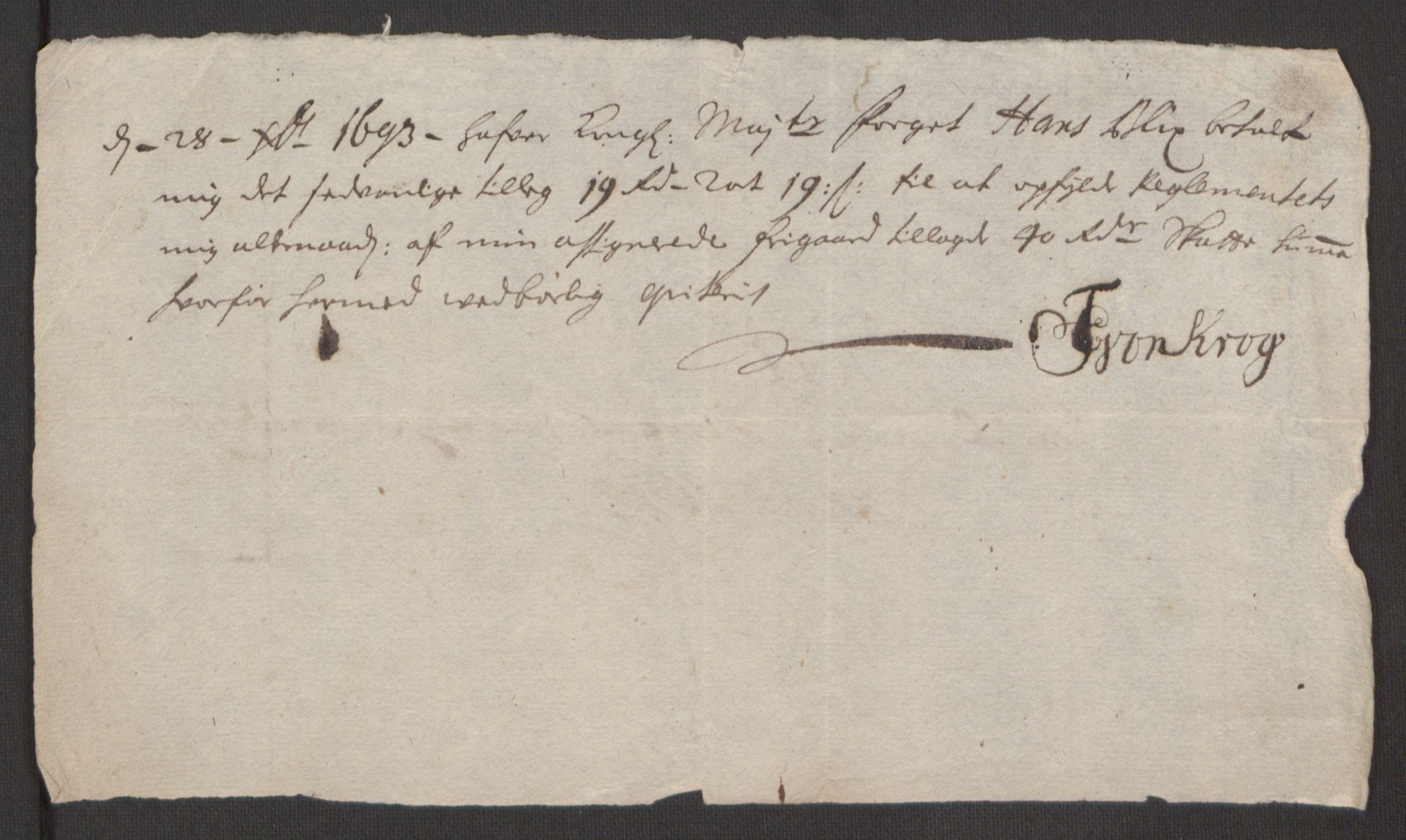 RA, Rentekammeret inntil 1814, Reviderte regnskaper, Fogderegnskap, R52/L3307: Fogderegnskap Sogn, 1693-1694, s. 244
