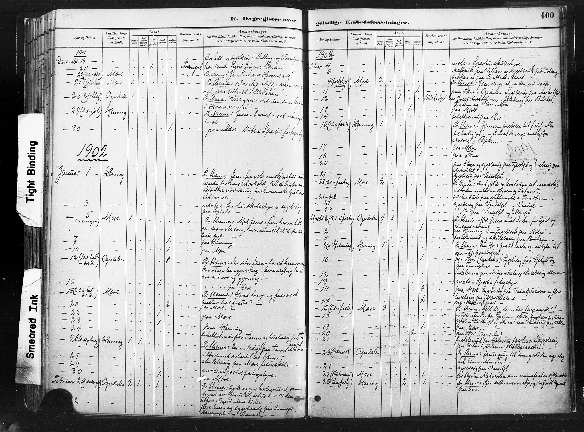 SAT, Ministerialprotokoller, klokkerbøker og fødselsregistre - Nord-Trøndelag, 735/L0351: Ministerialbok nr. 735A10, 1884-1908, s. 400