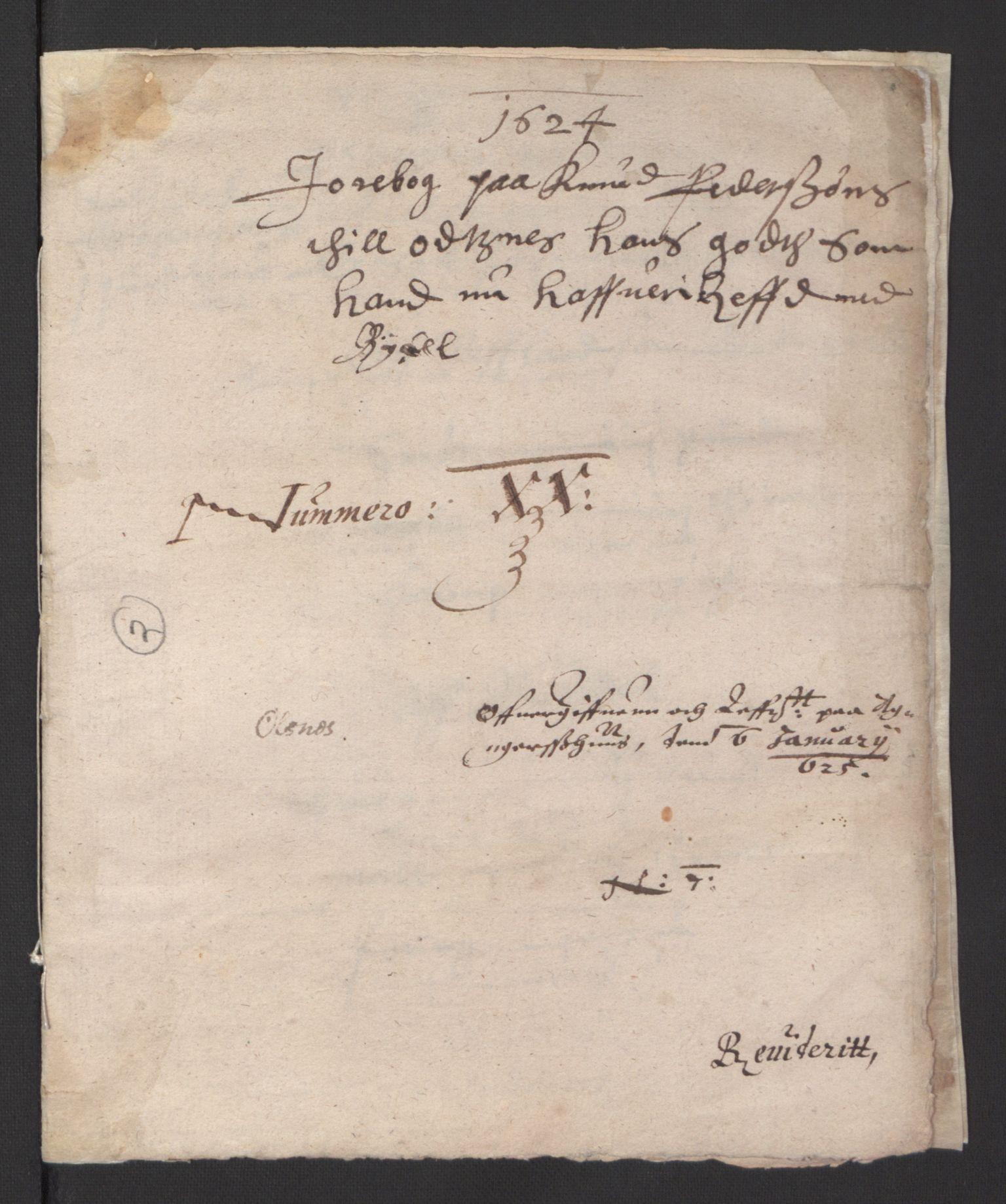 RA, Stattholderembetet 1572-1771, Ek/L0007: Jordebøker til utlikning av rosstjeneste 1624-1626:, 1624-1625, s. 486