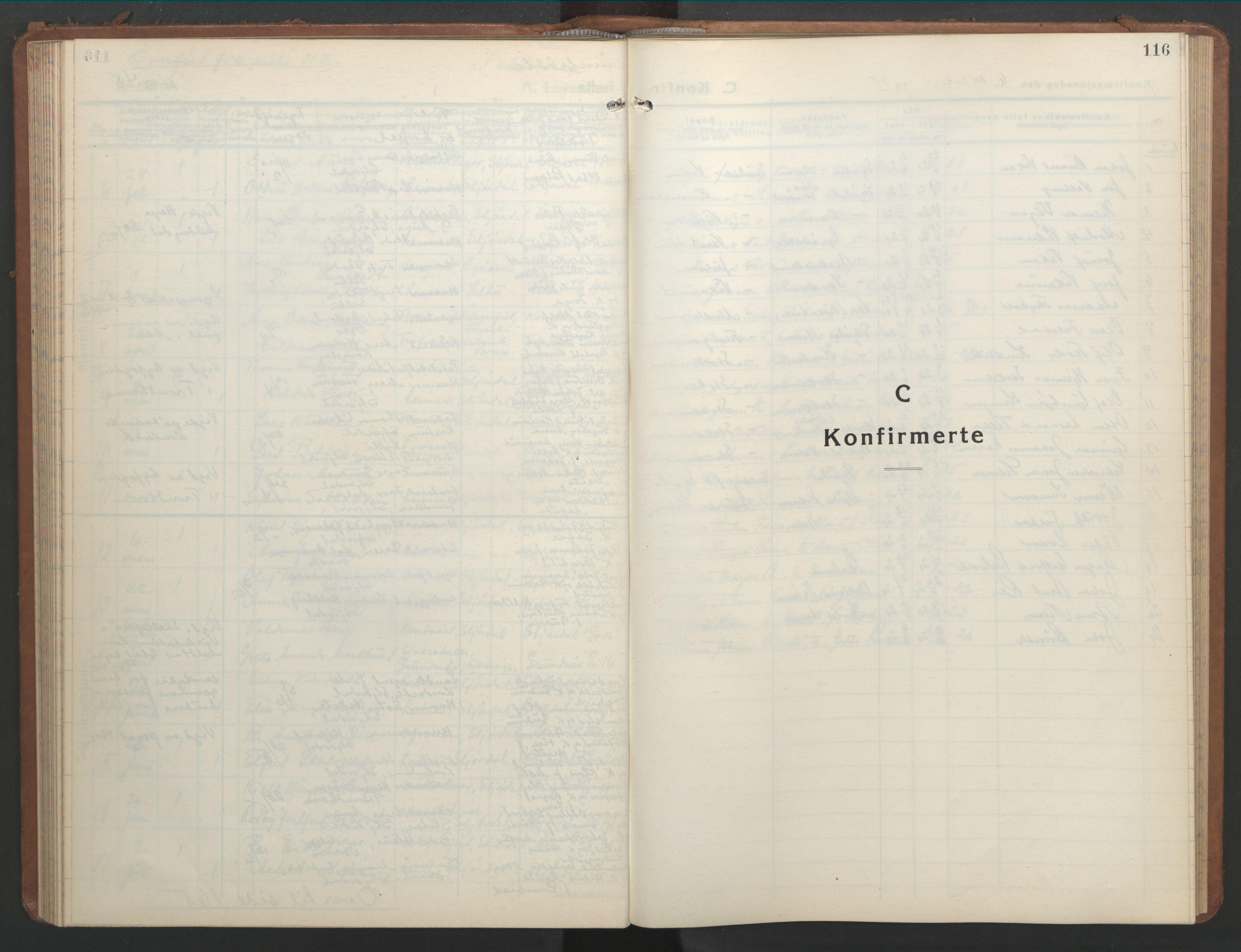 SAT, Ministerialprotokoller, klokkerbøker og fødselsregistre - Nord-Trøndelag, 709/L0089: Klokkerbok nr. 709C03, 1935-1948, s. 116