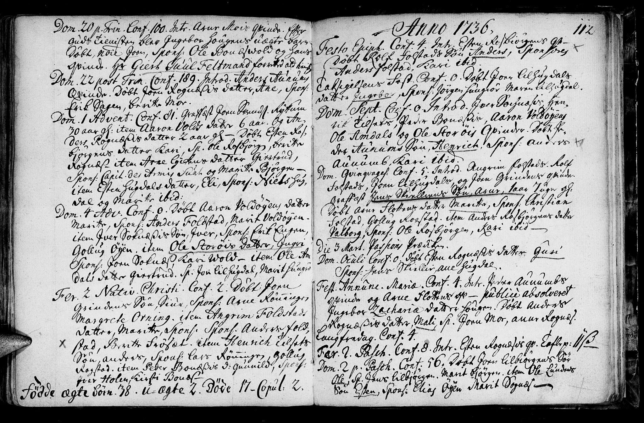SAT, Ministerialprotokoller, klokkerbøker og fødselsregistre - Sør-Trøndelag, 687/L0990: Ministerialbok nr. 687A01, 1690-1746, s. 112