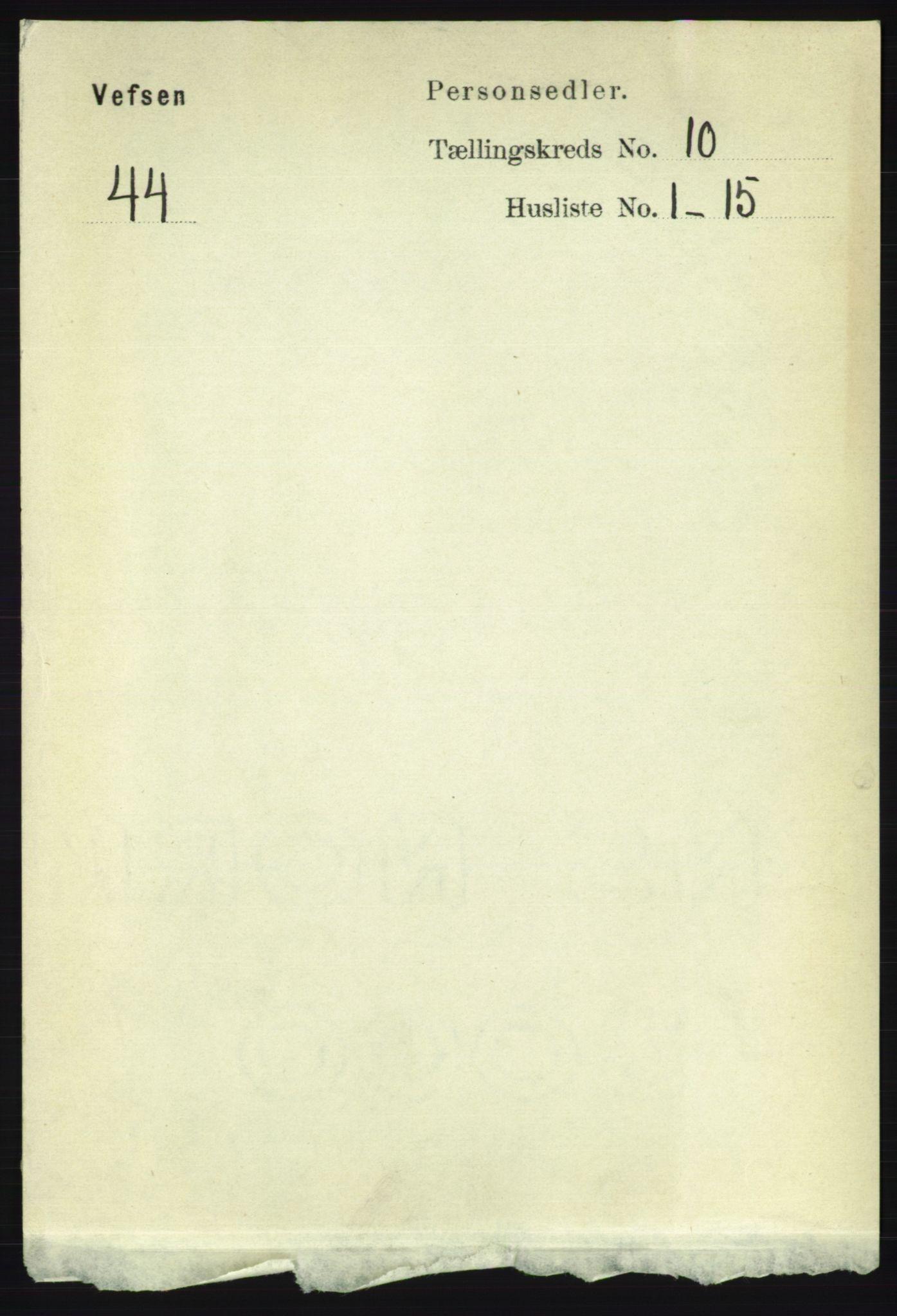 RA, Folketelling 1891 for 1824 Vefsn herred, 1891, s. 5192