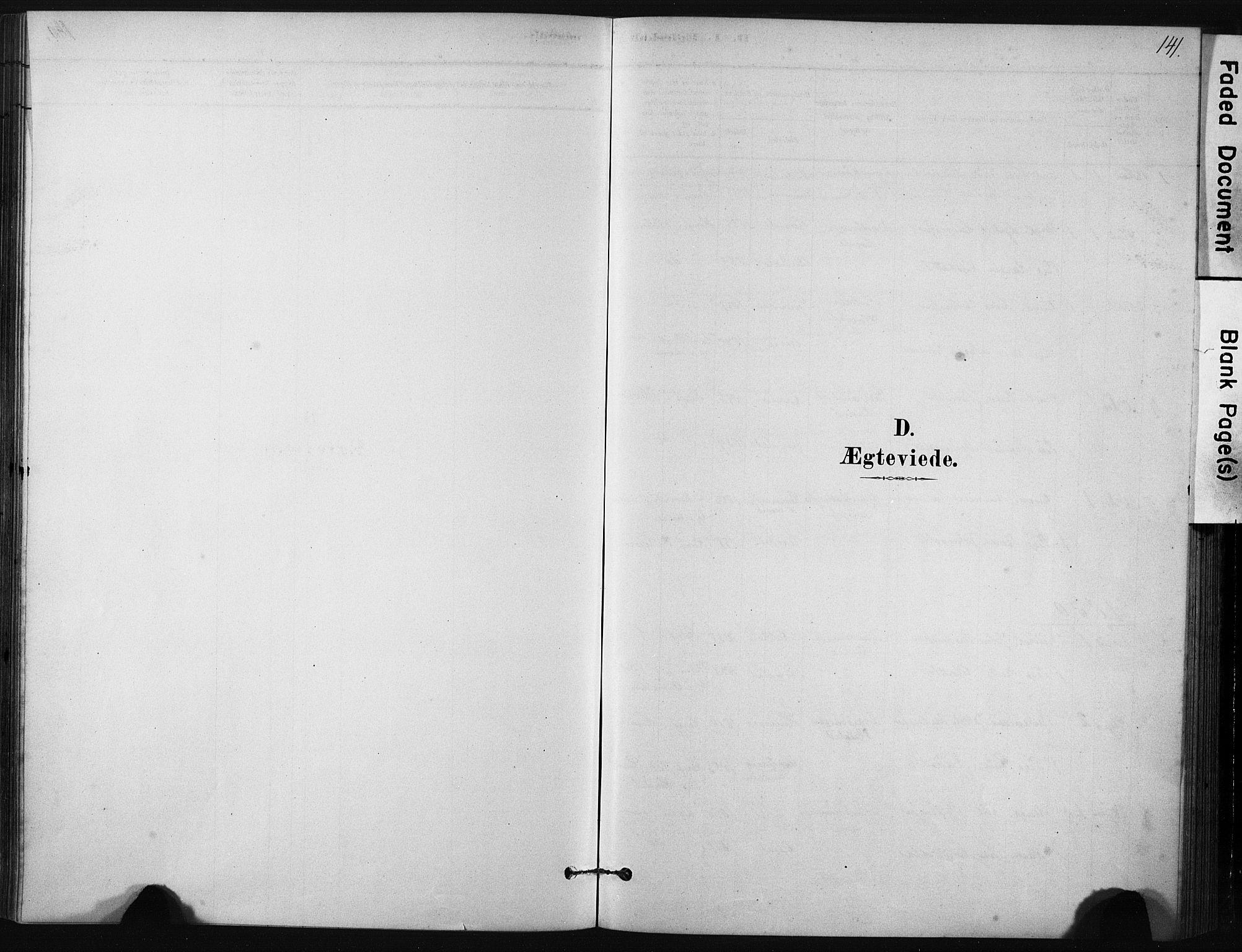 SAT, Ministerialprotokoller, klokkerbøker og fødselsregistre - Sør-Trøndelag, 631/L0512: Ministerialbok nr. 631A01, 1879-1912, s. 141