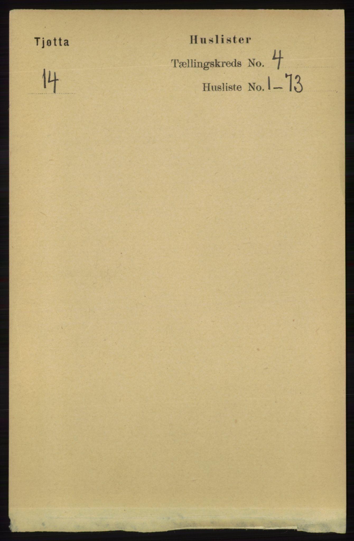 RA, Folketelling 1891 for 1817 Tjøtta herred, 1891, s. 1700