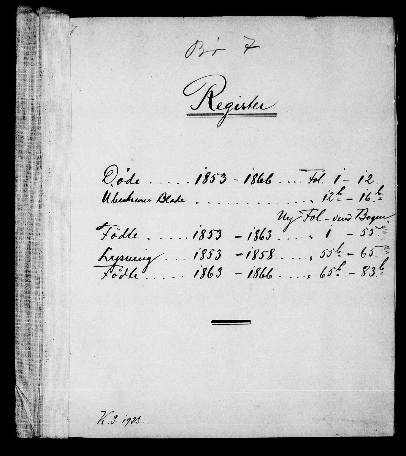 SAKO, Bø kirkebøker, G/Ga/L0002: Klokkerbok nr. 2, 1853-1866