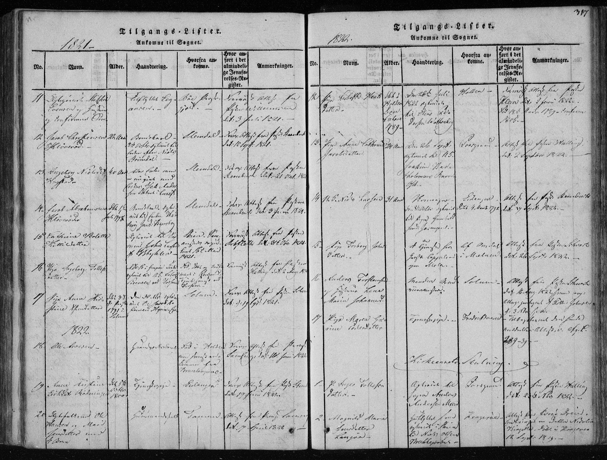 SAKO, Gjerpen kirkebøker, F/Fa/L0004: Ministerialbok nr. 4, 1814-1823, s. 317
