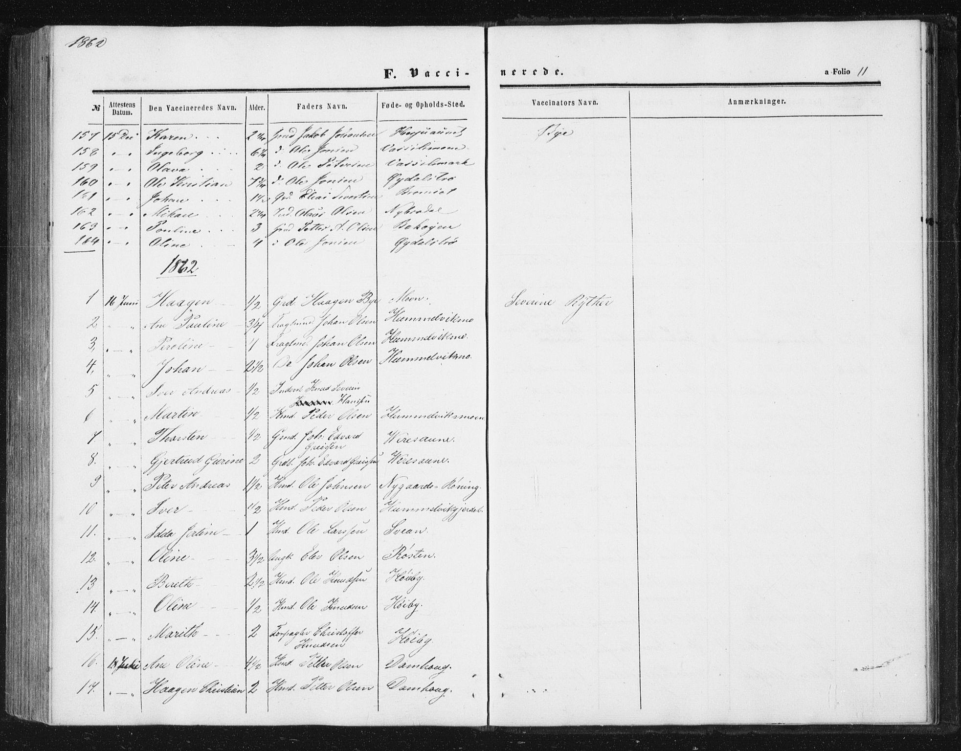 SAT, Ministerialprotokoller, klokkerbøker og fødselsregistre - Sør-Trøndelag, 616/L0408: Ministerialbok nr. 616A05, 1857-1865, s. 11