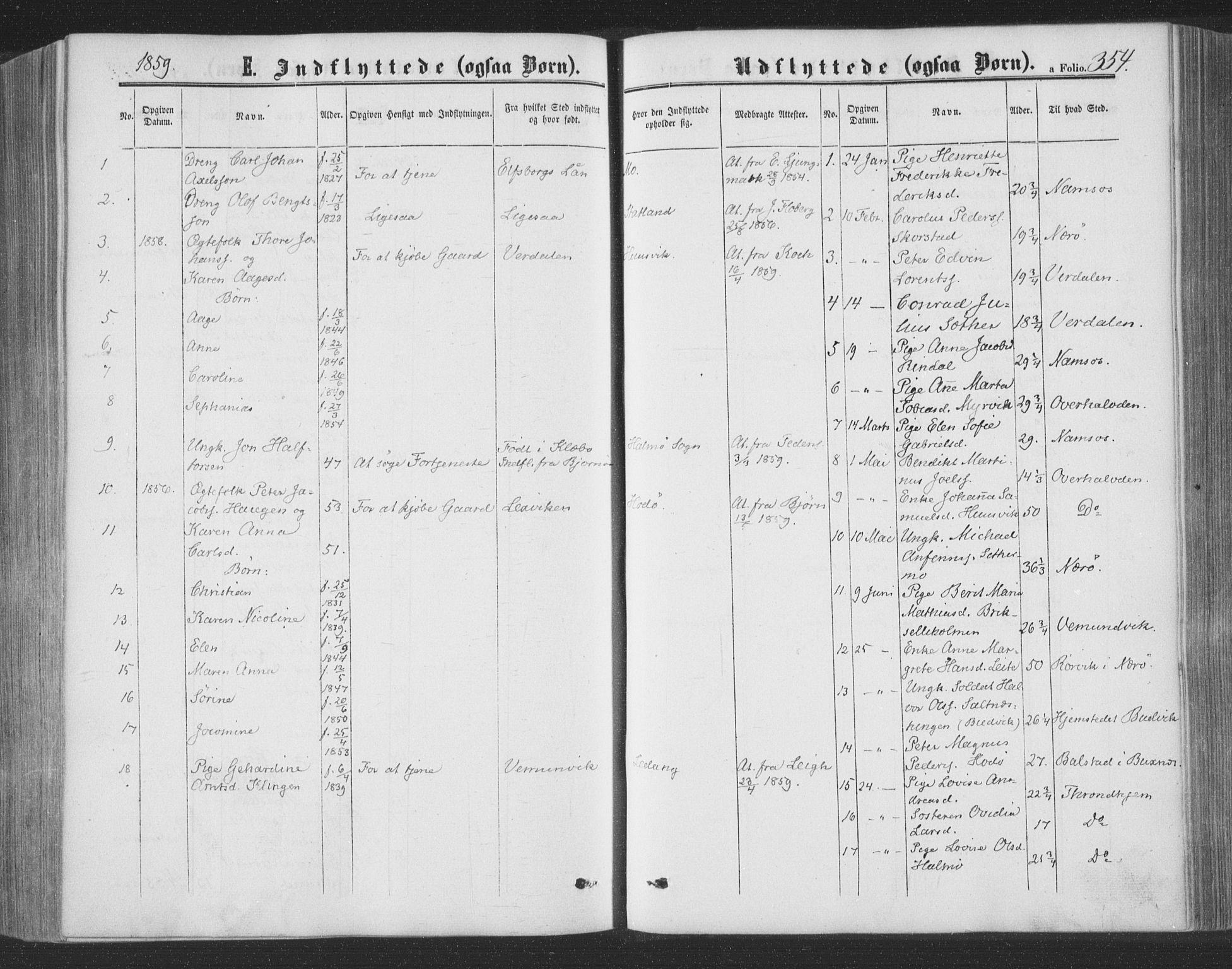 SAT, Ministerialprotokoller, klokkerbøker og fødselsregistre - Nord-Trøndelag, 773/L0615: Ministerialbok nr. 773A06, 1857-1870, s. 354