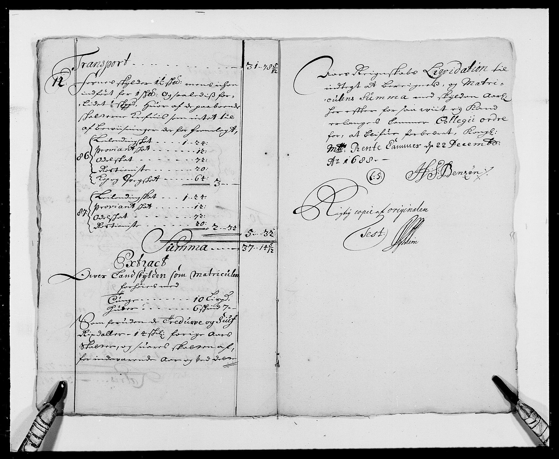 RA, Rentekammeret inntil 1814, Reviderte regnskaper, Fogderegnskap, R24/L1573: Fogderegnskap Numedal og Sandsvær, 1687-1691, s. 296