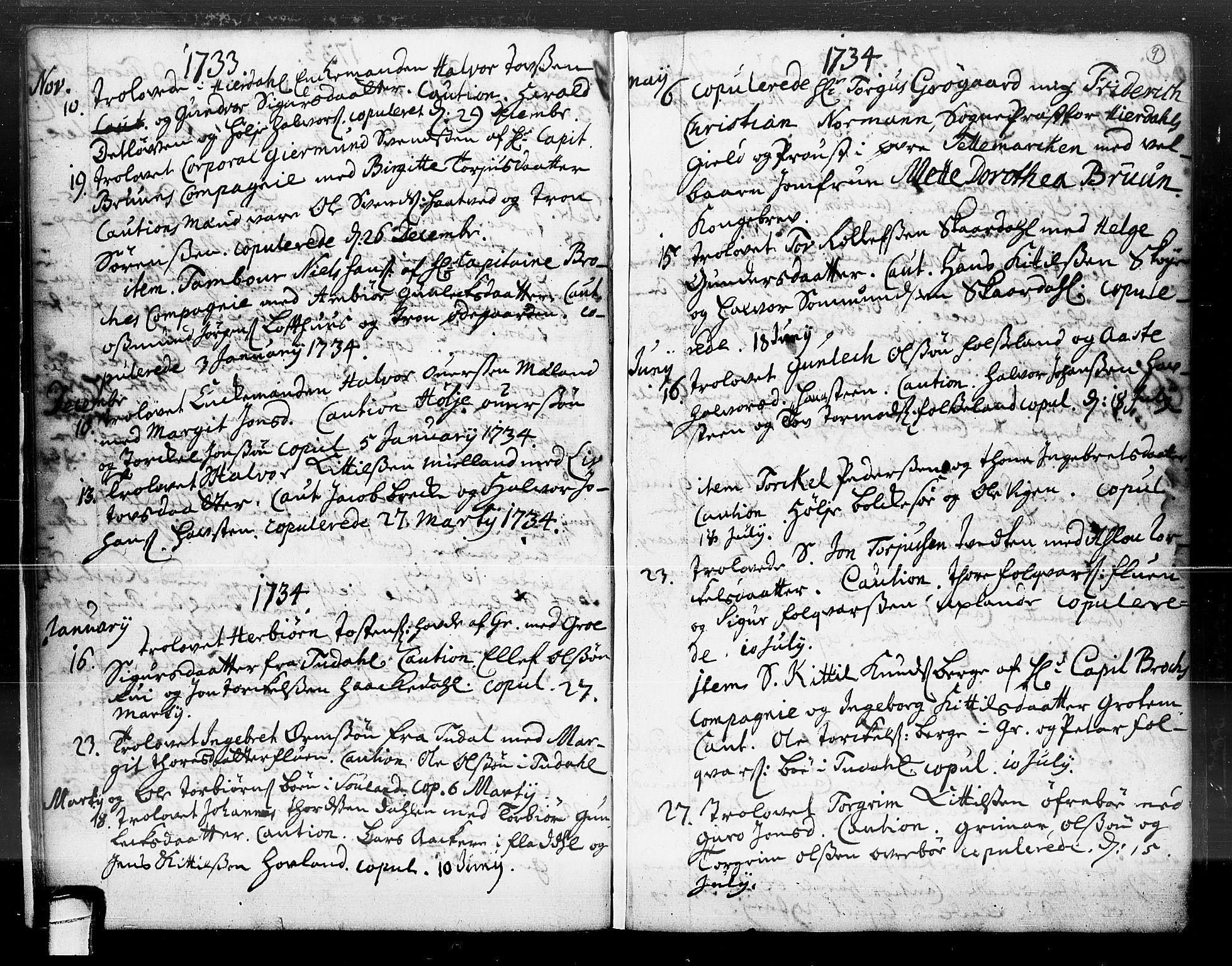 SAKO, Hjartdal kirkebøker, F/Fa/L0004: Ministerialbok nr. I 4, 1727-1795, s. 9