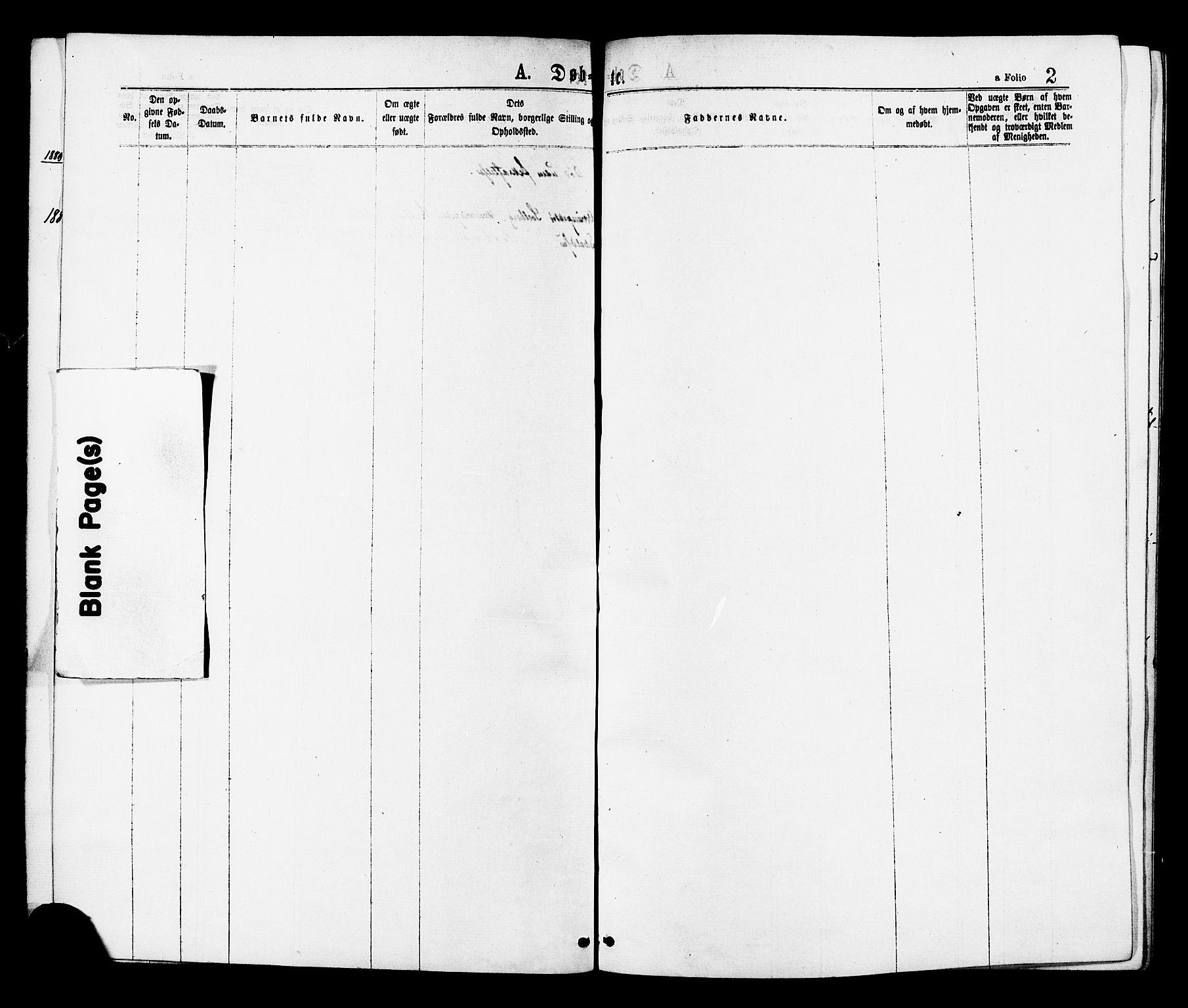 SAT, Ministerialprotokoller, klokkerbøker og fødselsregistre - Sør-Trøndelag, 624/L0482: Ministerialbok nr. 624A03, 1870-1918, s. 2