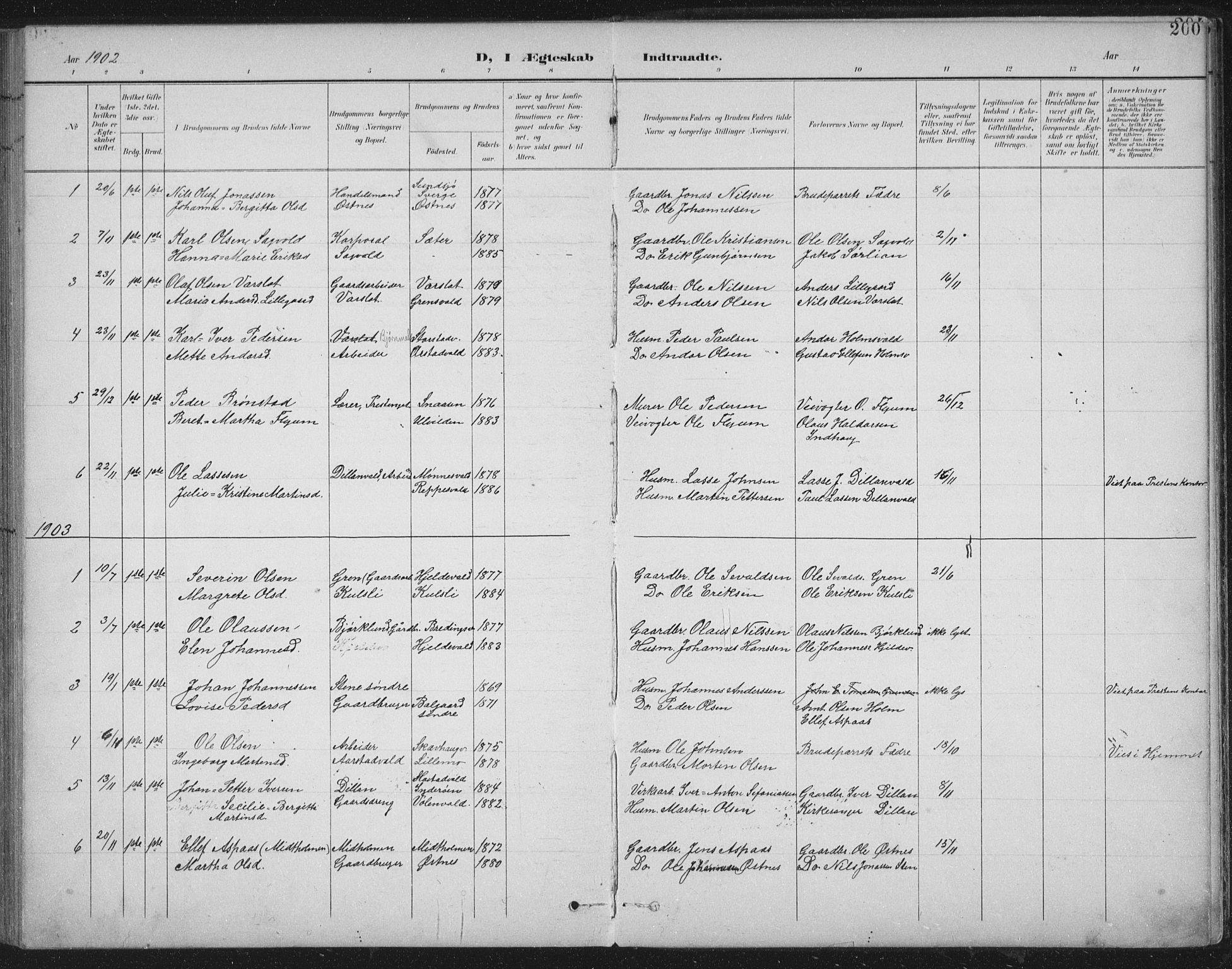 SAT, Ministerialprotokoller, klokkerbøker og fødselsregistre - Nord-Trøndelag, 724/L0269: Klokkerbok nr. 724C05, 1899-1920, s. 200