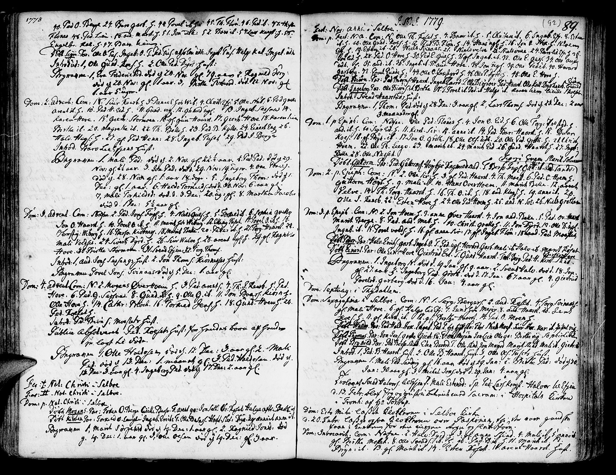 SAT, Ministerialprotokoller, klokkerbøker og fødselsregistre - Sør-Trøndelag, 695/L1138: Ministerialbok nr. 695A02 /1, 1757-1801, s. 92