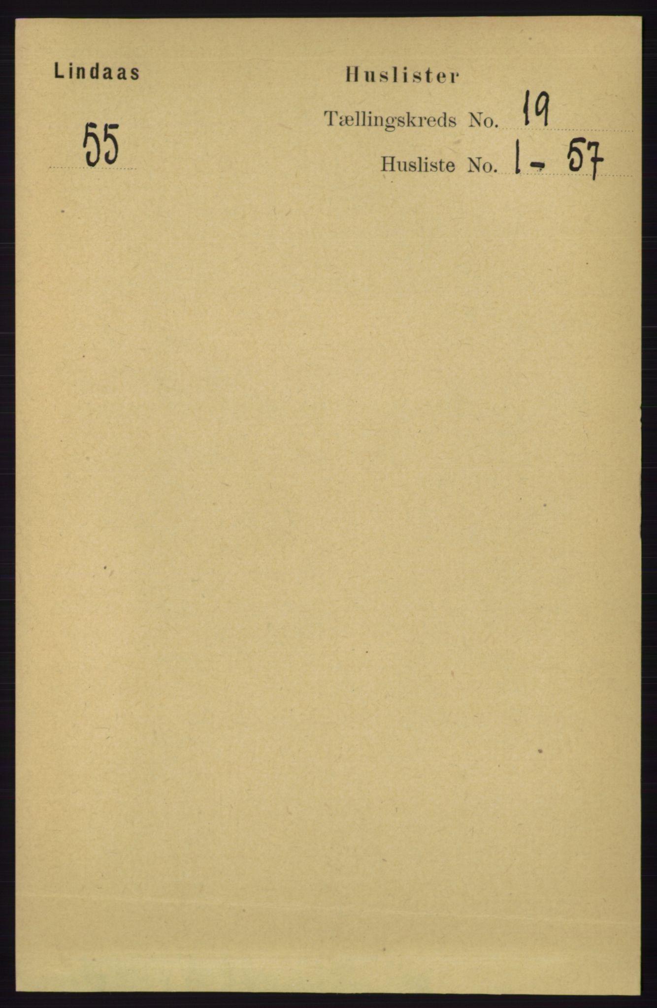 RA, Folketelling 1891 for 1263 Lindås herred, 1891, s. 6872