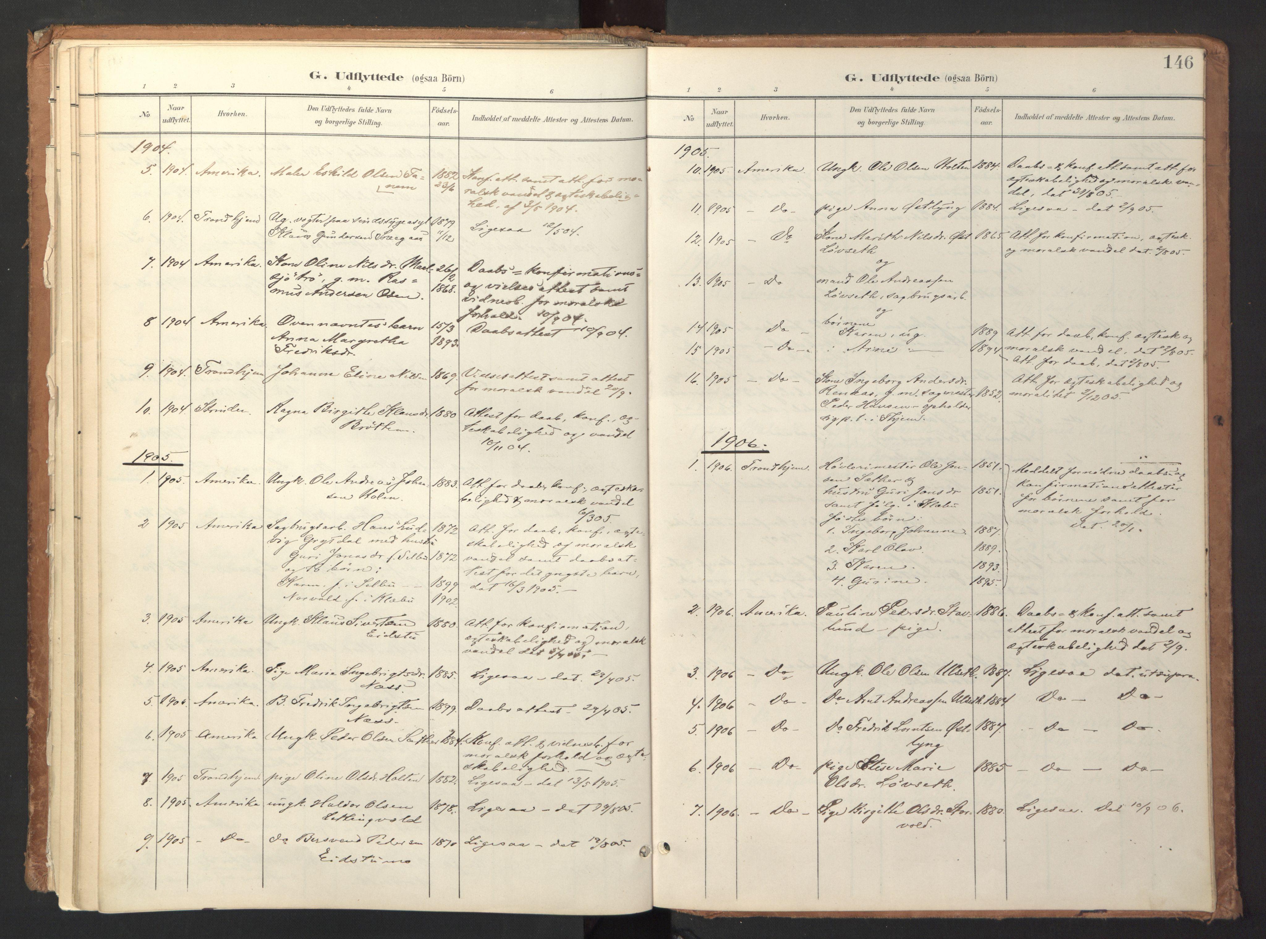 SAT, Ministerialprotokoller, klokkerbøker og fødselsregistre - Sør-Trøndelag, 618/L0448: Ministerialbok nr. 618A11, 1898-1916, s. 146