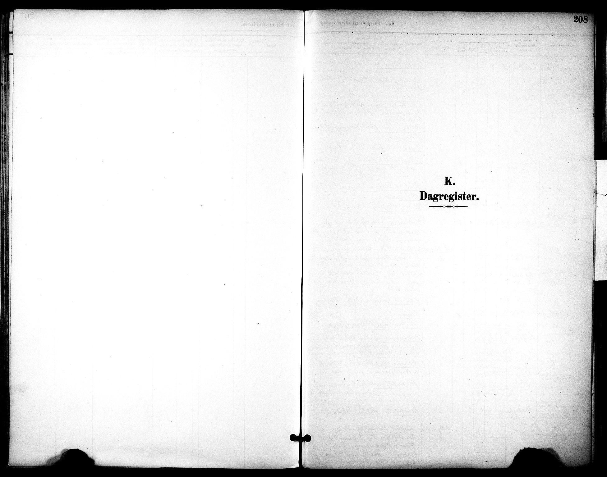 SAT, Ministerialprotokoller, klokkerbøker og fødselsregistre - Sør-Trøndelag, 686/L0984: Ministerialbok nr. 686A02, 1891-1906, s. 208
