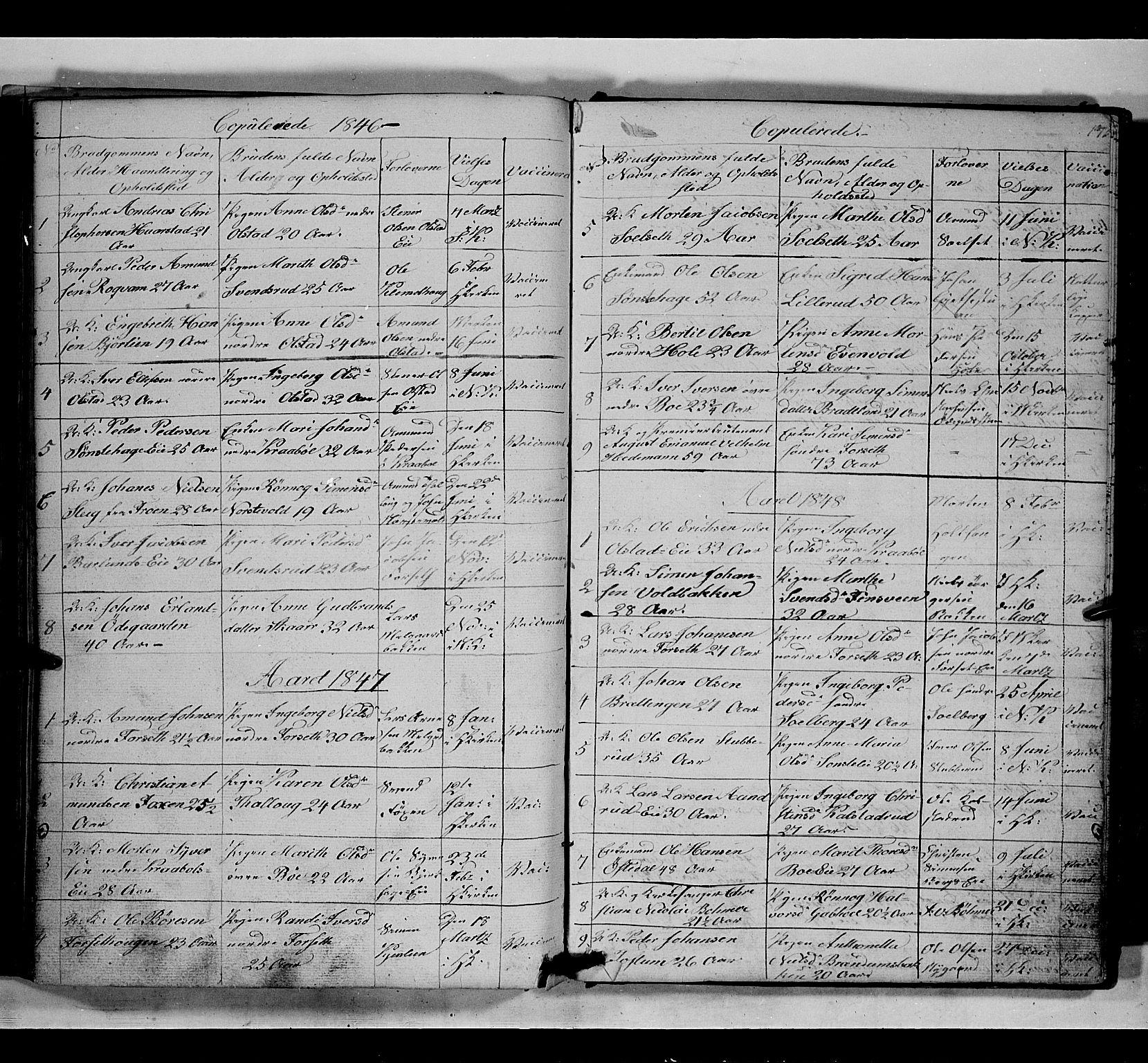 SAH, Gausdal prestekontor, Klokkerbok nr. 5, 1846-1867, s. 173