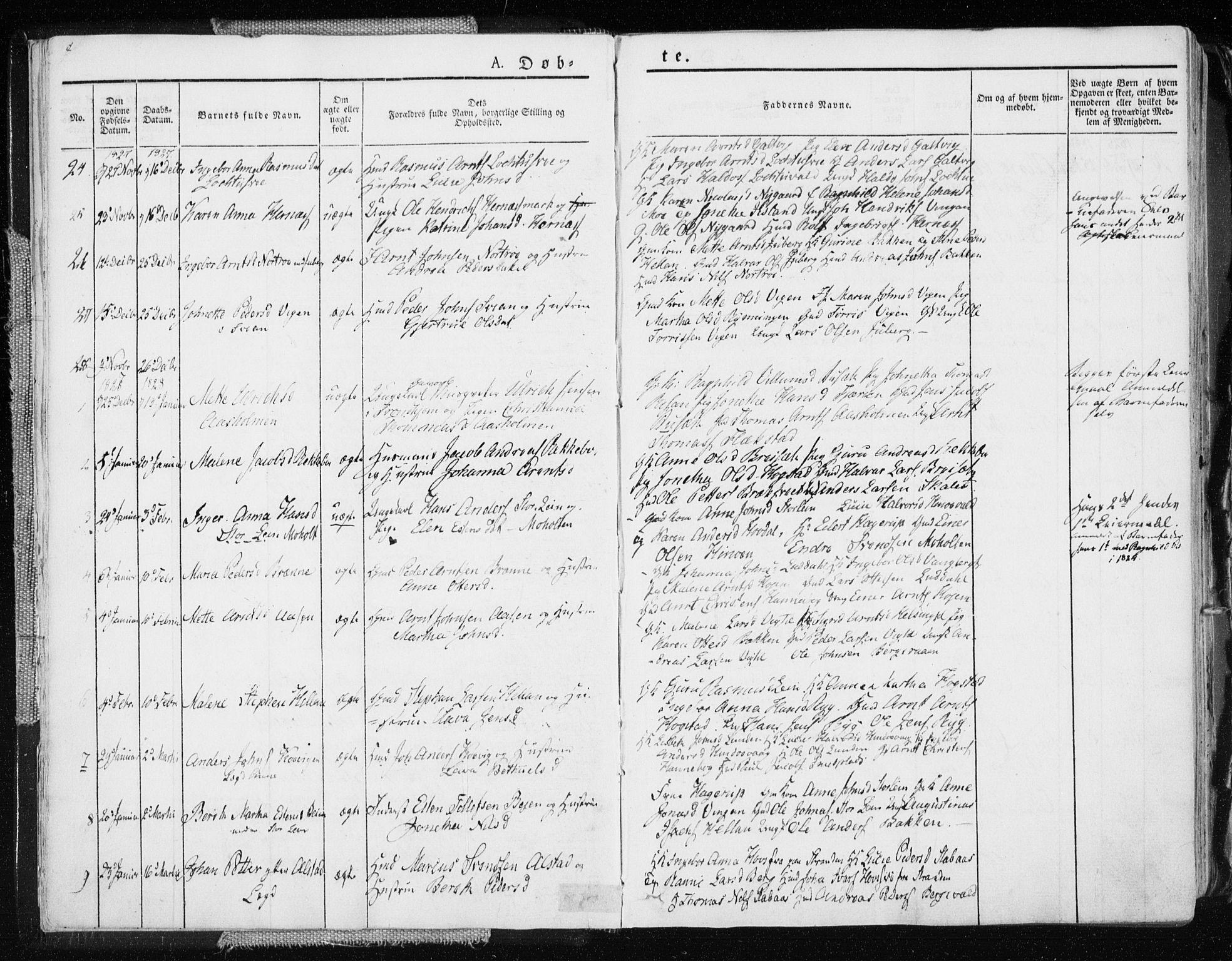 SAT, Ministerialprotokoller, klokkerbøker og fødselsregistre - Nord-Trøndelag, 713/L0114: Ministerialbok nr. 713A05, 1827-1839, s. 8